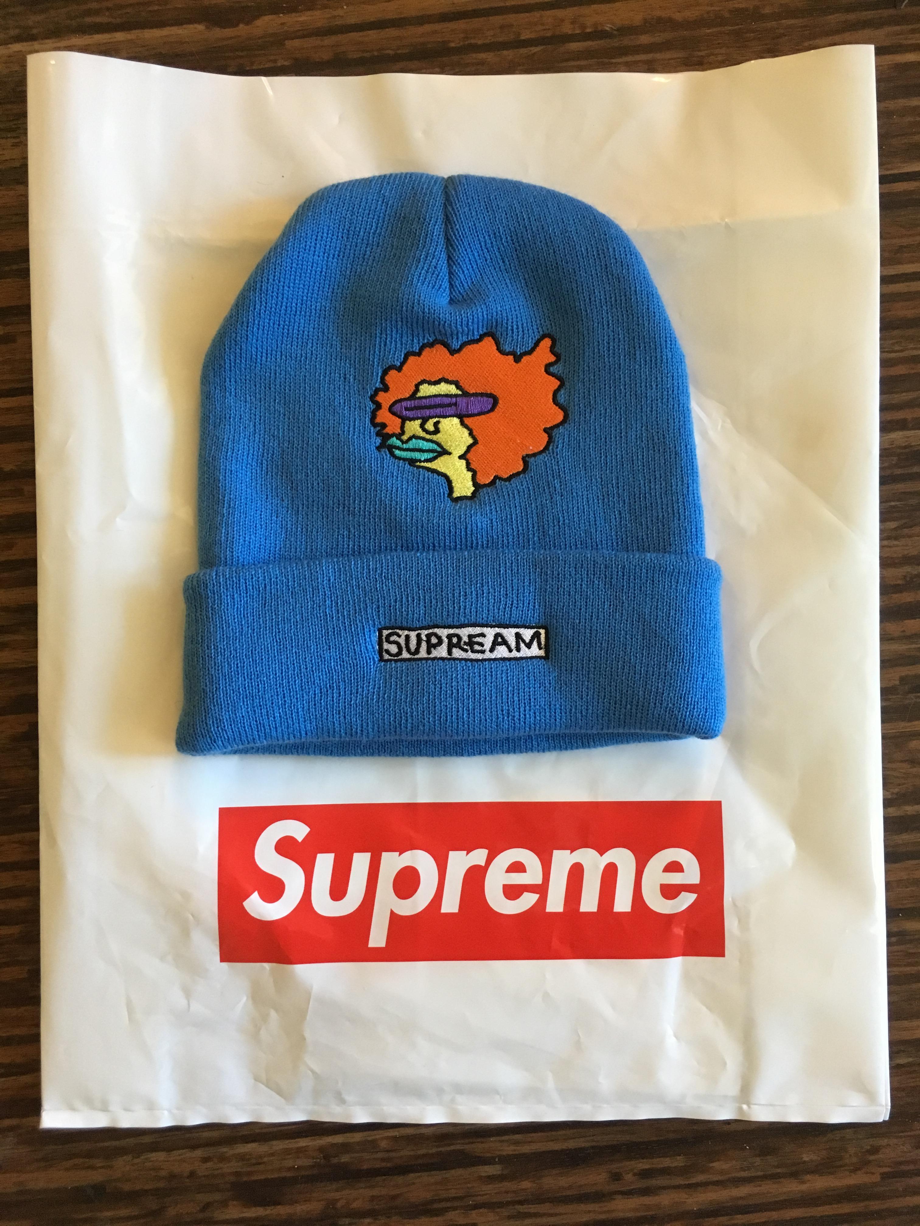 Supreme Supreme x Gonz Ramm Beanie Light Blue Size one size - Hats for Sale  - Grailed e2eaf5034af7