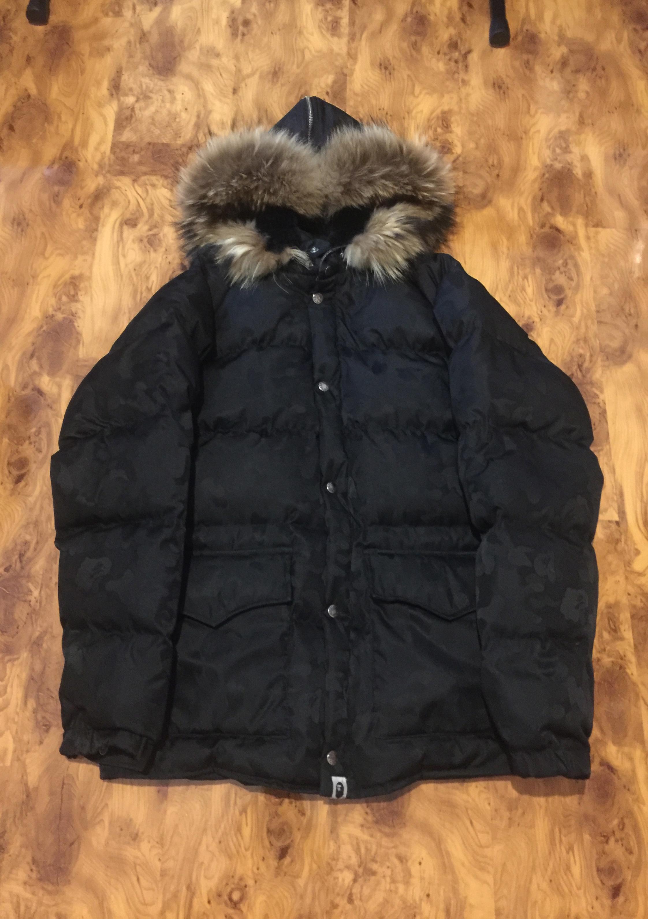 994ef6d956f2 Bape Bape Jacquard Camo Fur Down Jacket Size l - Heavy Coats for Sale -  Grailed