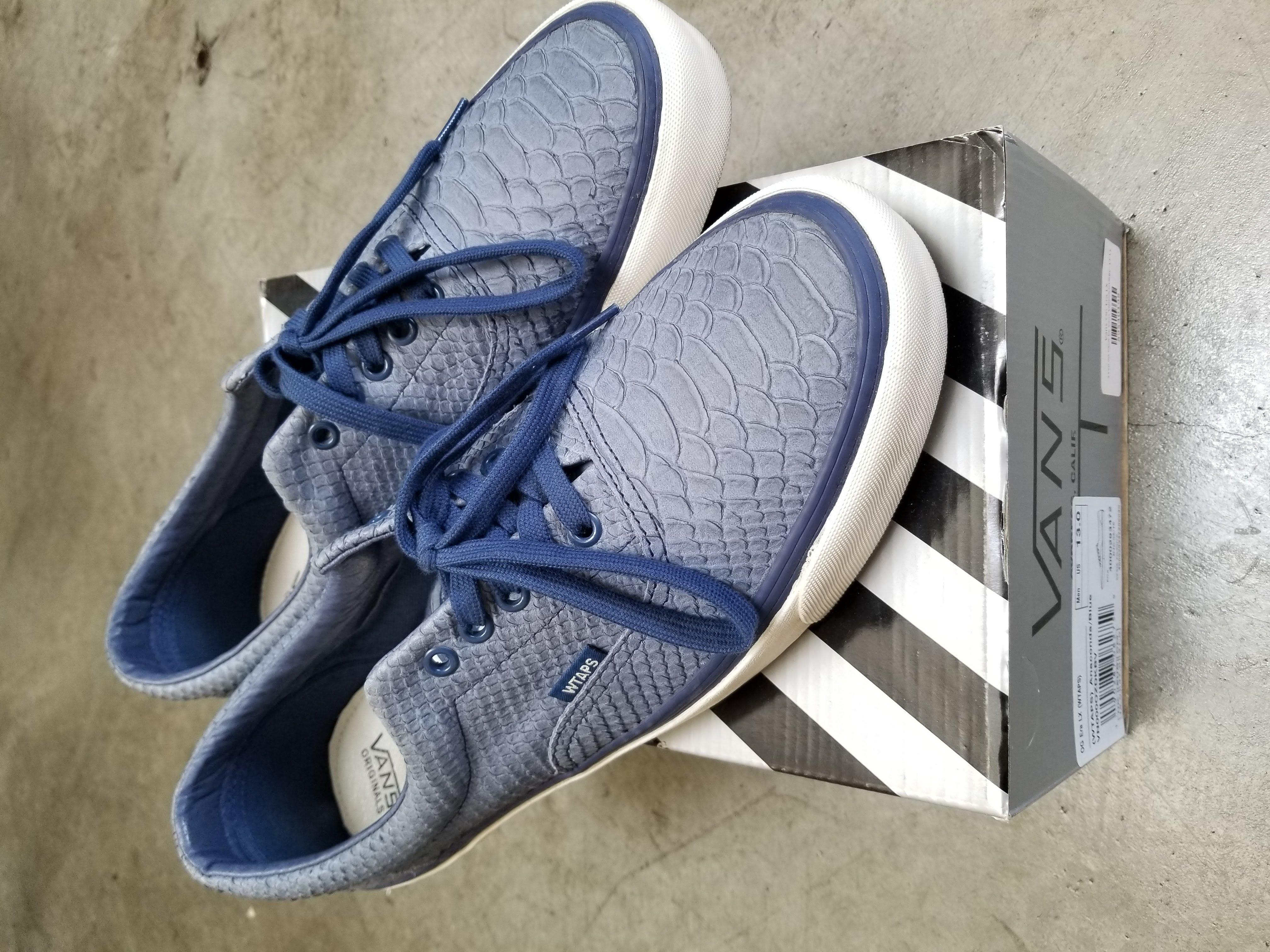 6aa882e639 Vans Vans Vault x Wtaps Blue Anaconda Authentics Size 13 - Low-Top Sneakers  for Sale - Grailed