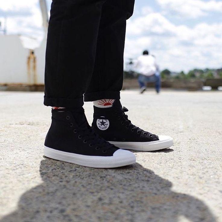 5e850c4731e0 Converse CONVERSE CHUCK TAYLOR ALL STAR CT II HI  BLACK WHITE  Size 9 -  Hi-Top Sneakers for Sale - Grailed