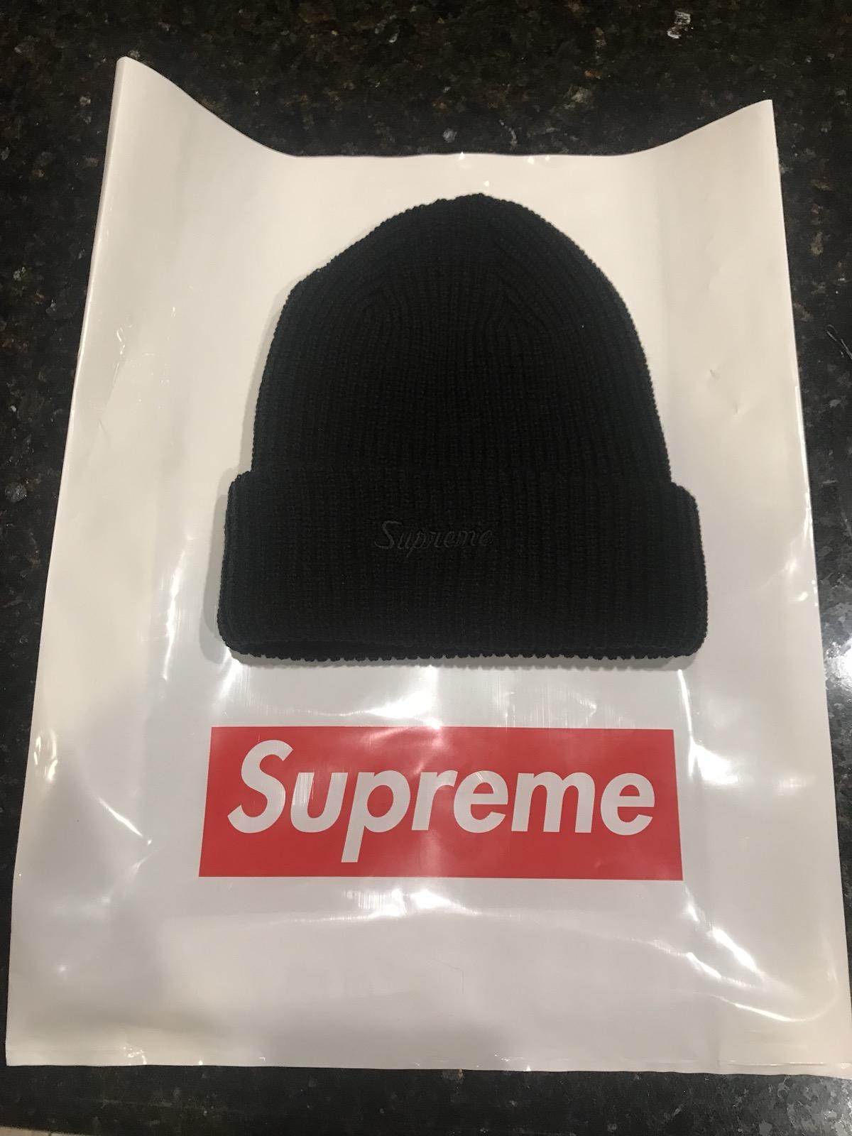 be9d3878570 Supreme Supreme Loose Gauge Beanie Fw18 Black