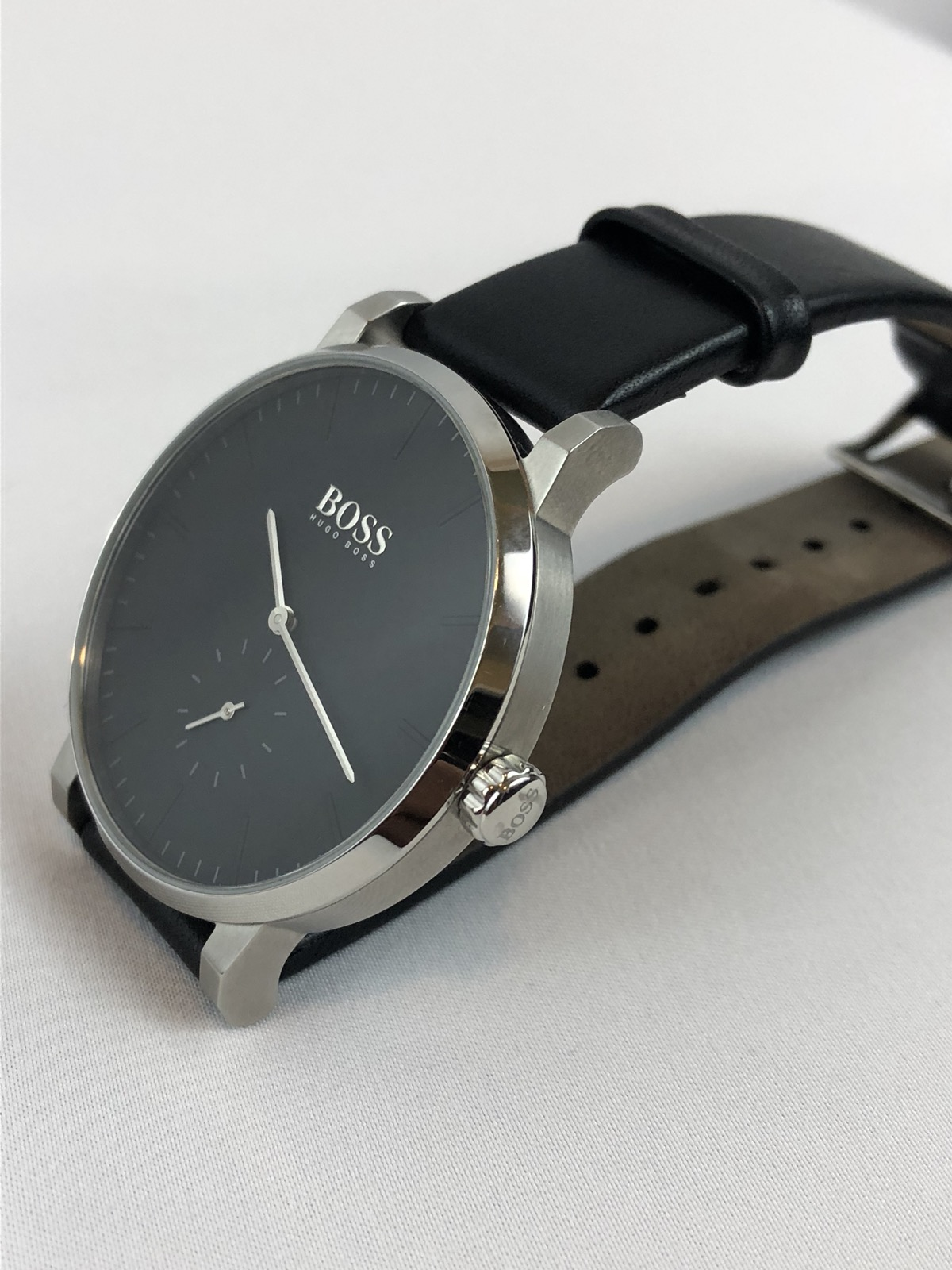 1af9c3d2e71 Hugo Boss Hugo Boss Men s Essence Modern Watch Silver Tone Black Dial  Leather Size one size - Jewelry   Watches for Sale - Grailed