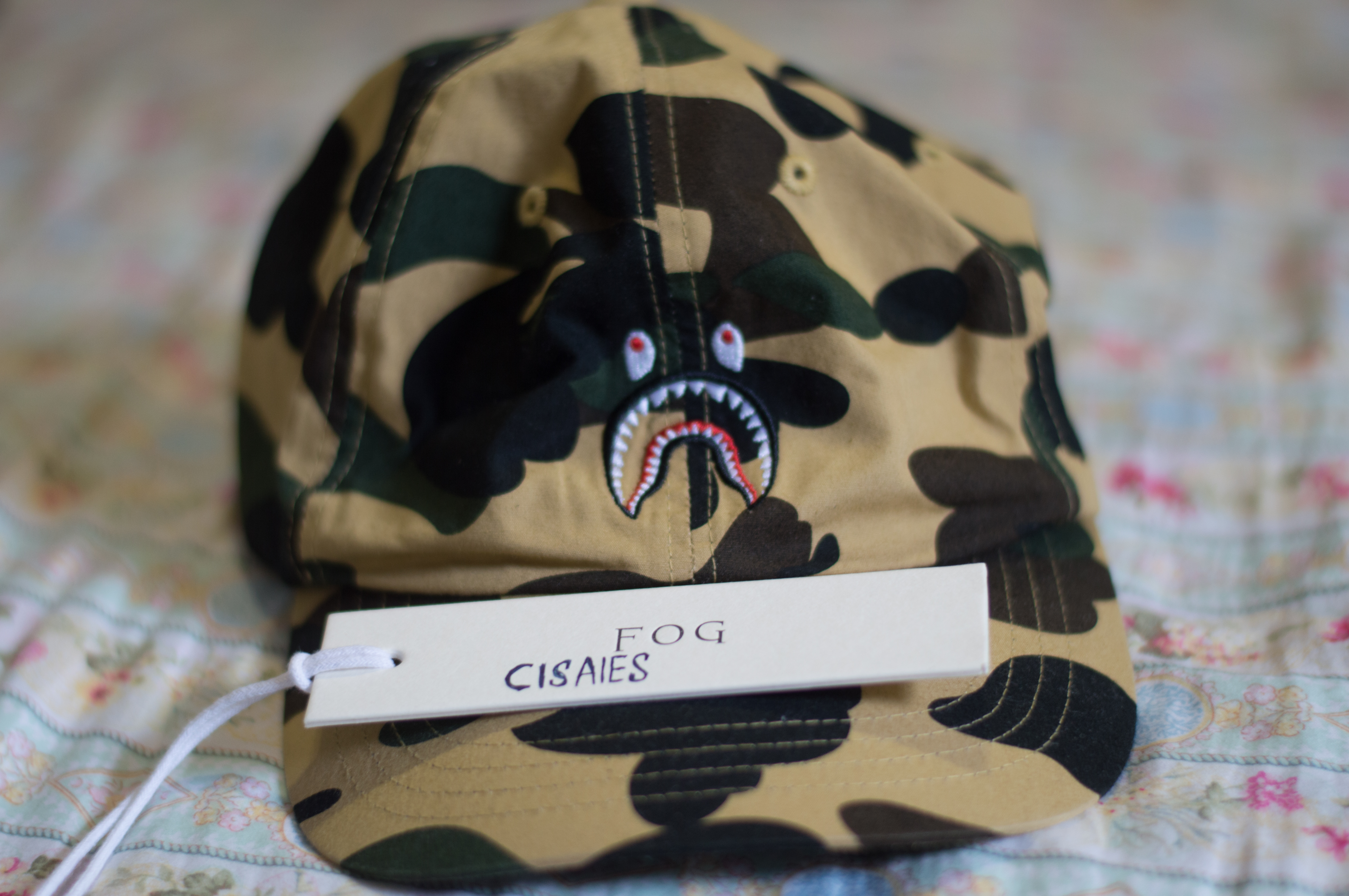 db9268fe08d Bape. BAPE 1ST CAMO SHARK CAP