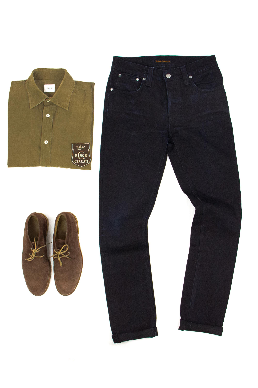 64c31ddd Nudie Jeans ×. NUDIE JEANS GRIM TIM BLACK RING SKINNY LEG ORGANIC COTTON  Men's ...