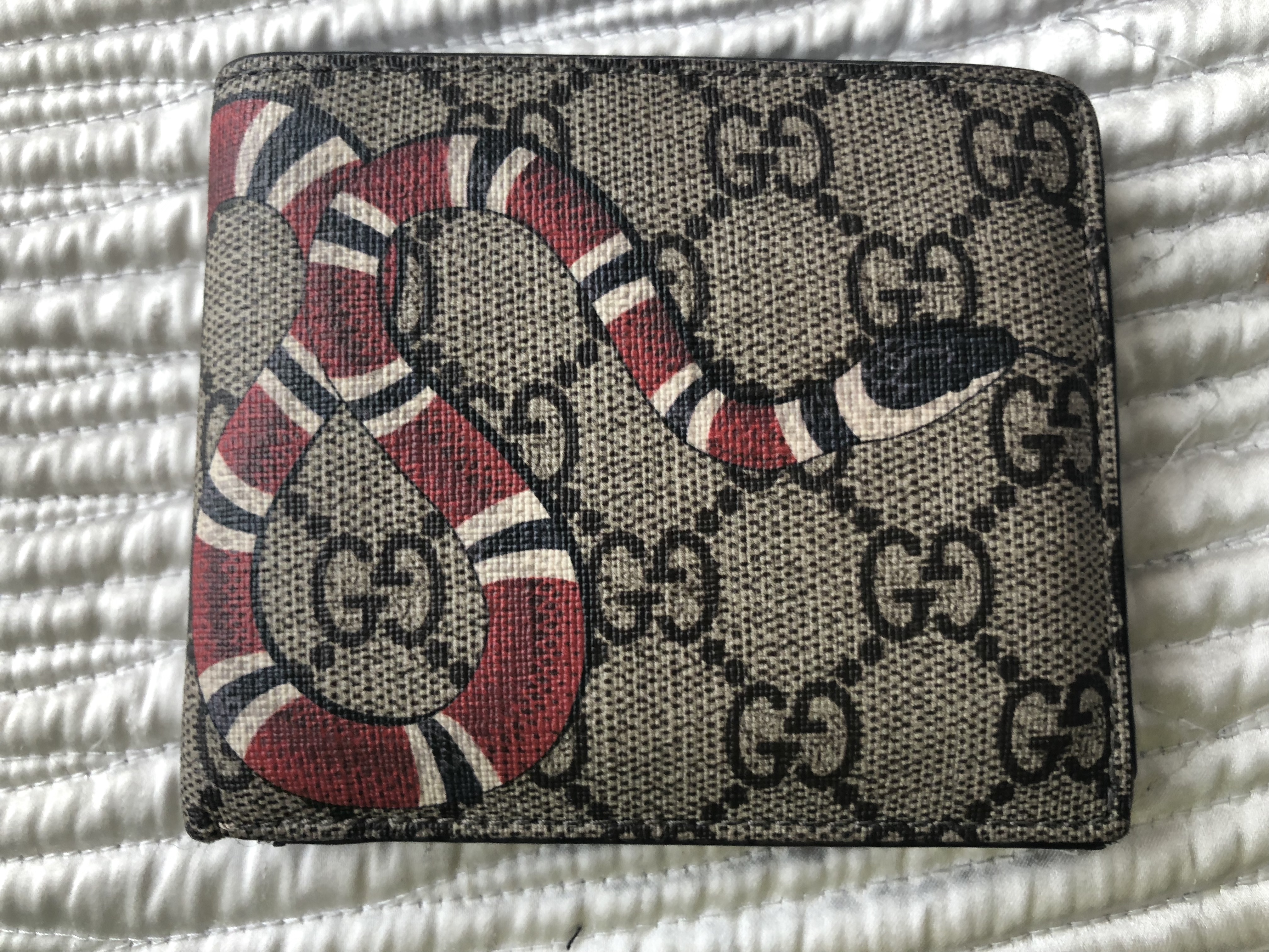 d6724ae3c709 Gucci Gucci Kingsnake Snake Print Gg Supreme Wallet | Grailed