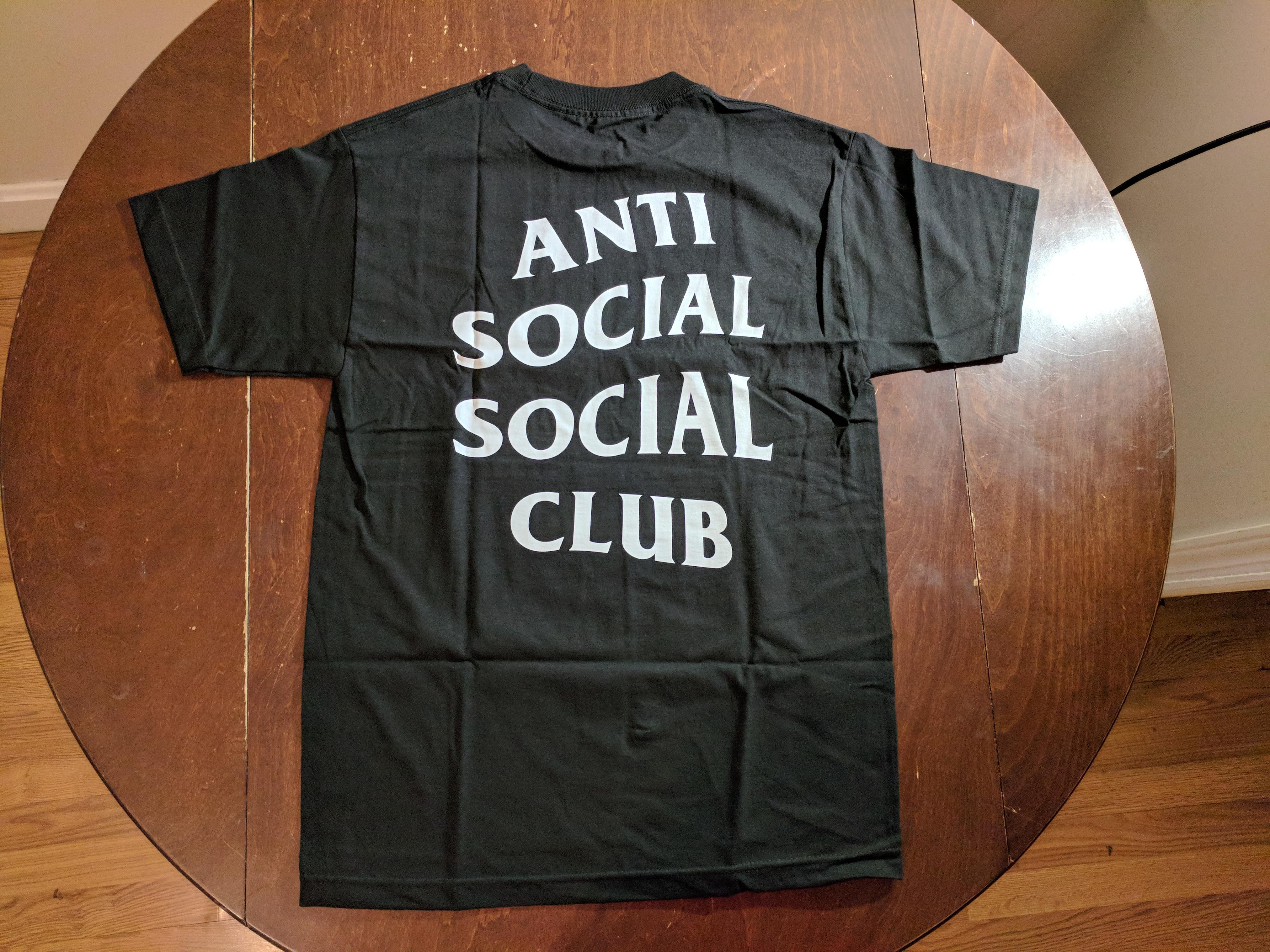 aab6304ed9e9 Antisocial Social Club. ASSC Logo black tee 2 Anti Social Social Club Bape  Supreme Nike