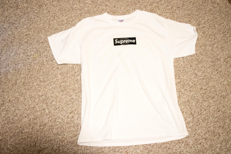 178c35e241fe3d Custom not SUPREME x CHANEL Box Logo Tee Size l - Short Sleeve T ...