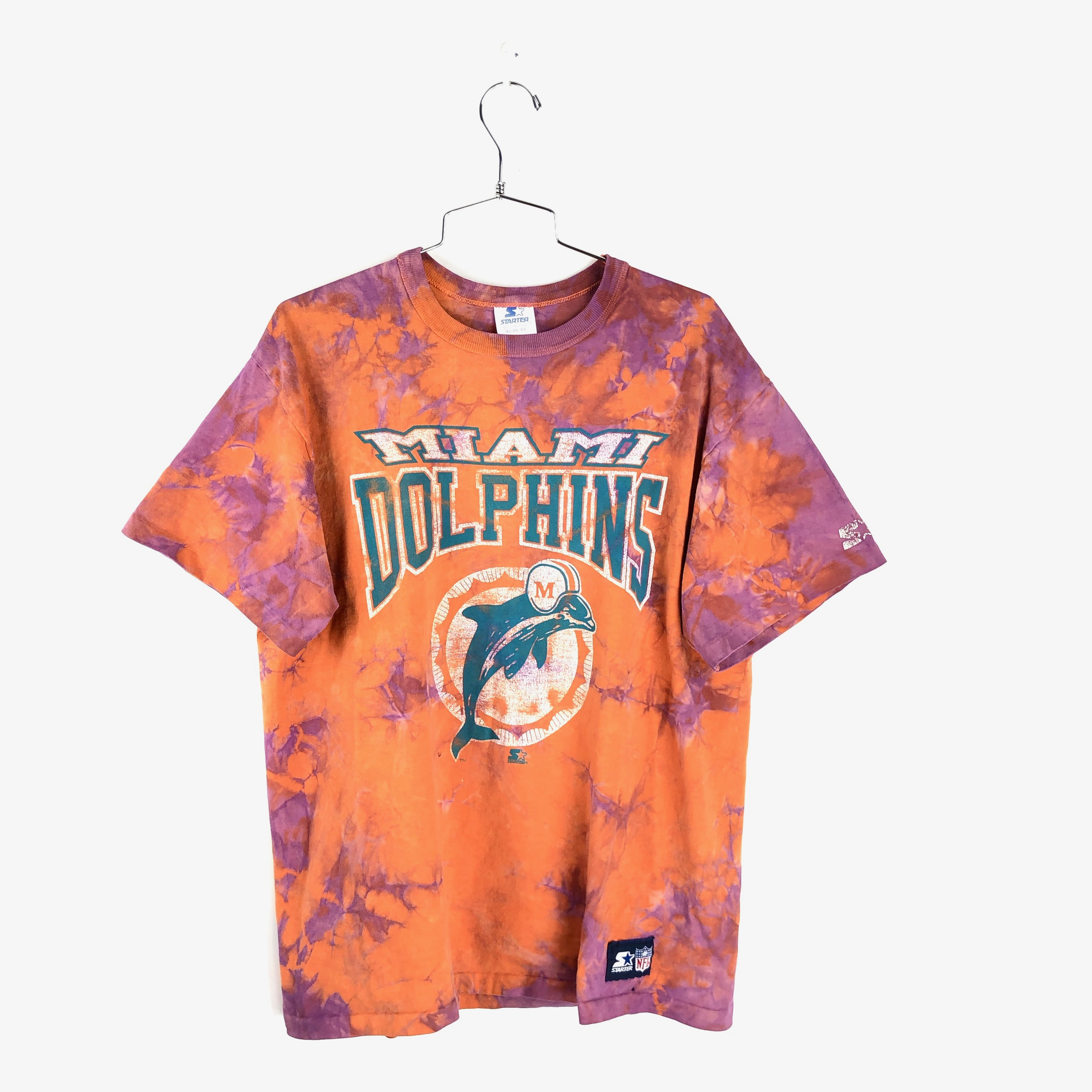 best sneakers ef4a2 79399 Vintage Miami Dolphins T Shirt Size Medium Mens 90s Dyed Custom