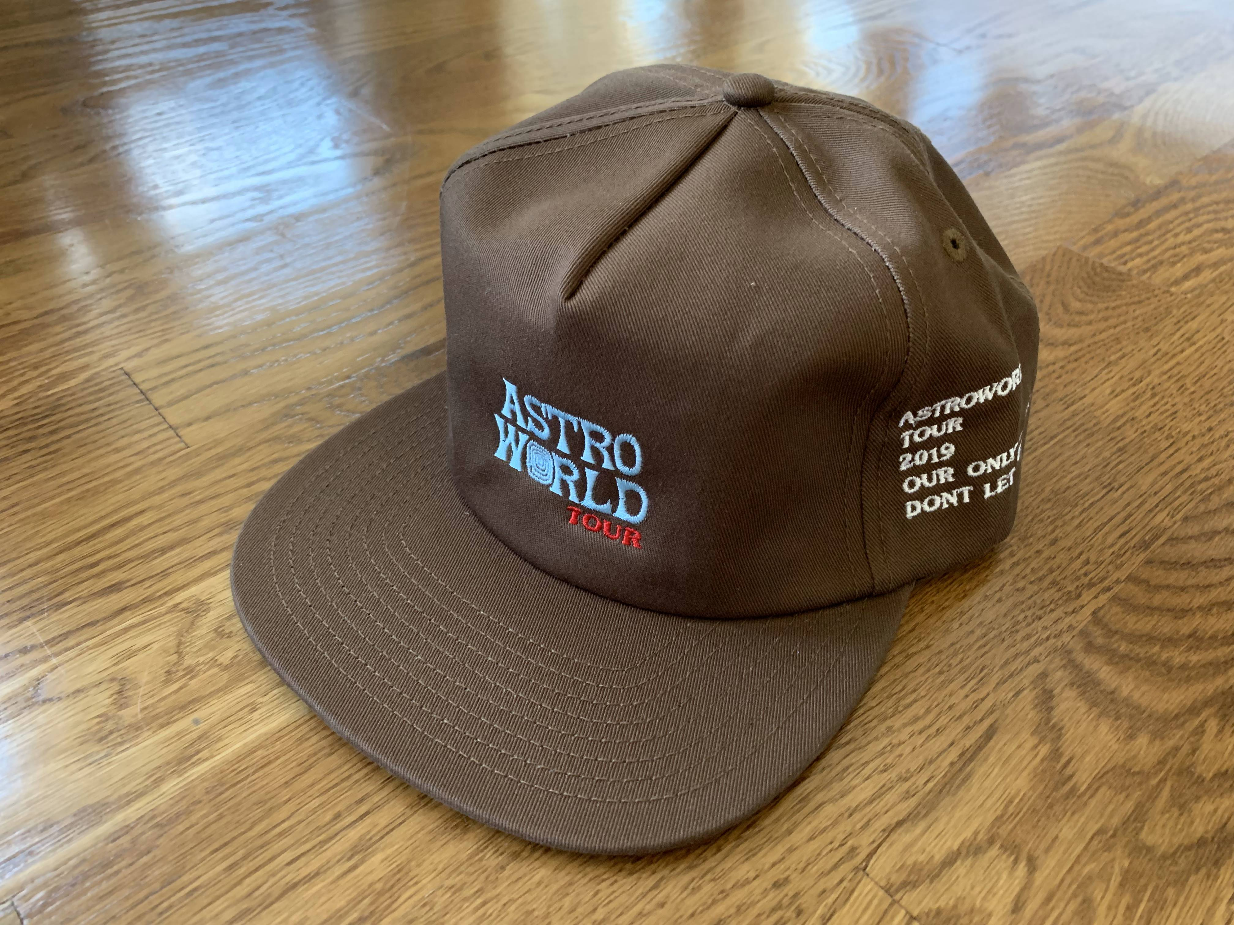 e819732fdb8b7 Travis Scott Astroworld Brown Wish You Were Here Snapback Hat Travis ...