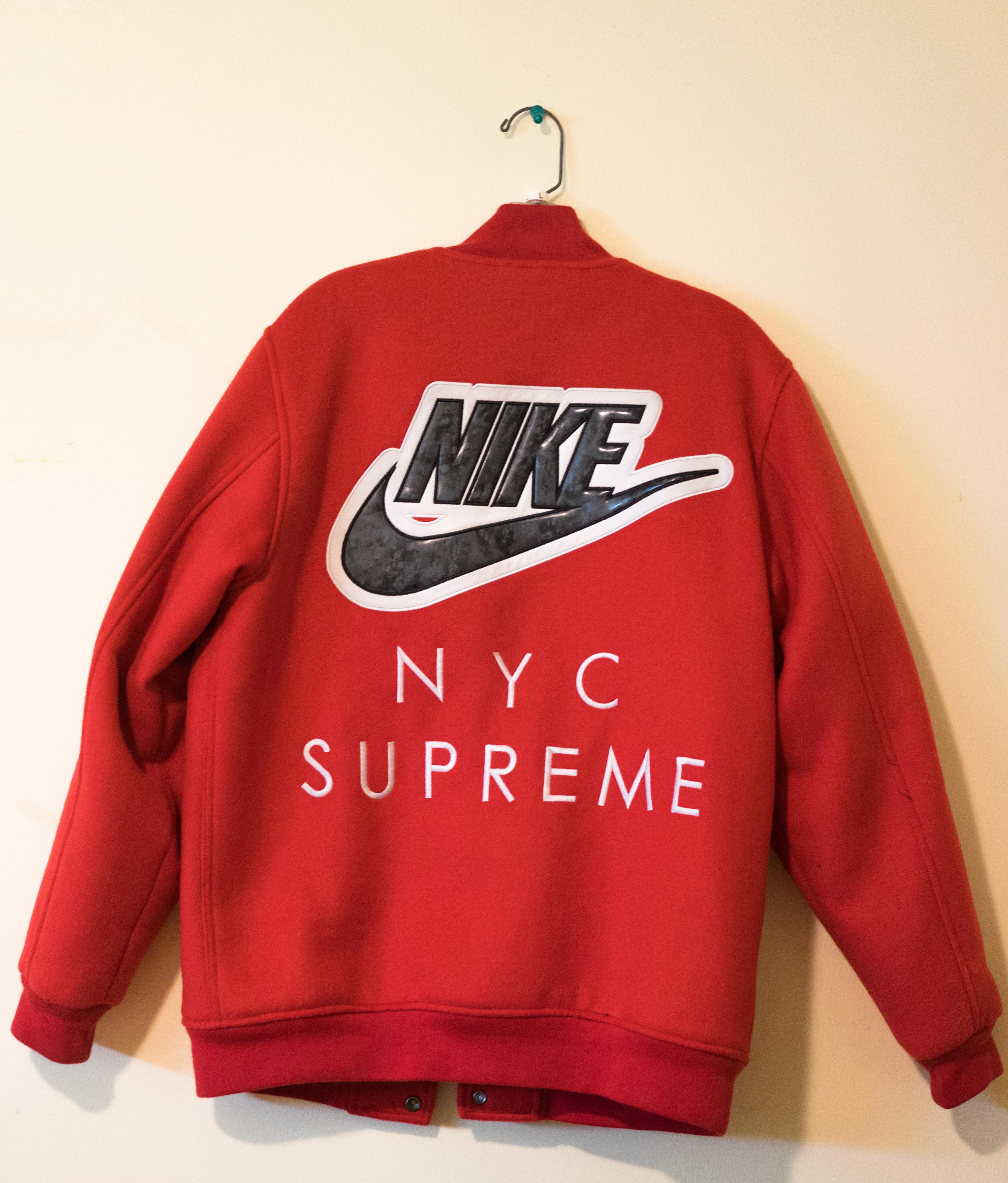 12125d6cf3bf Supreme Supreme X Nike SB Red Varsity Jacket 2007 Size m - Bombers ...