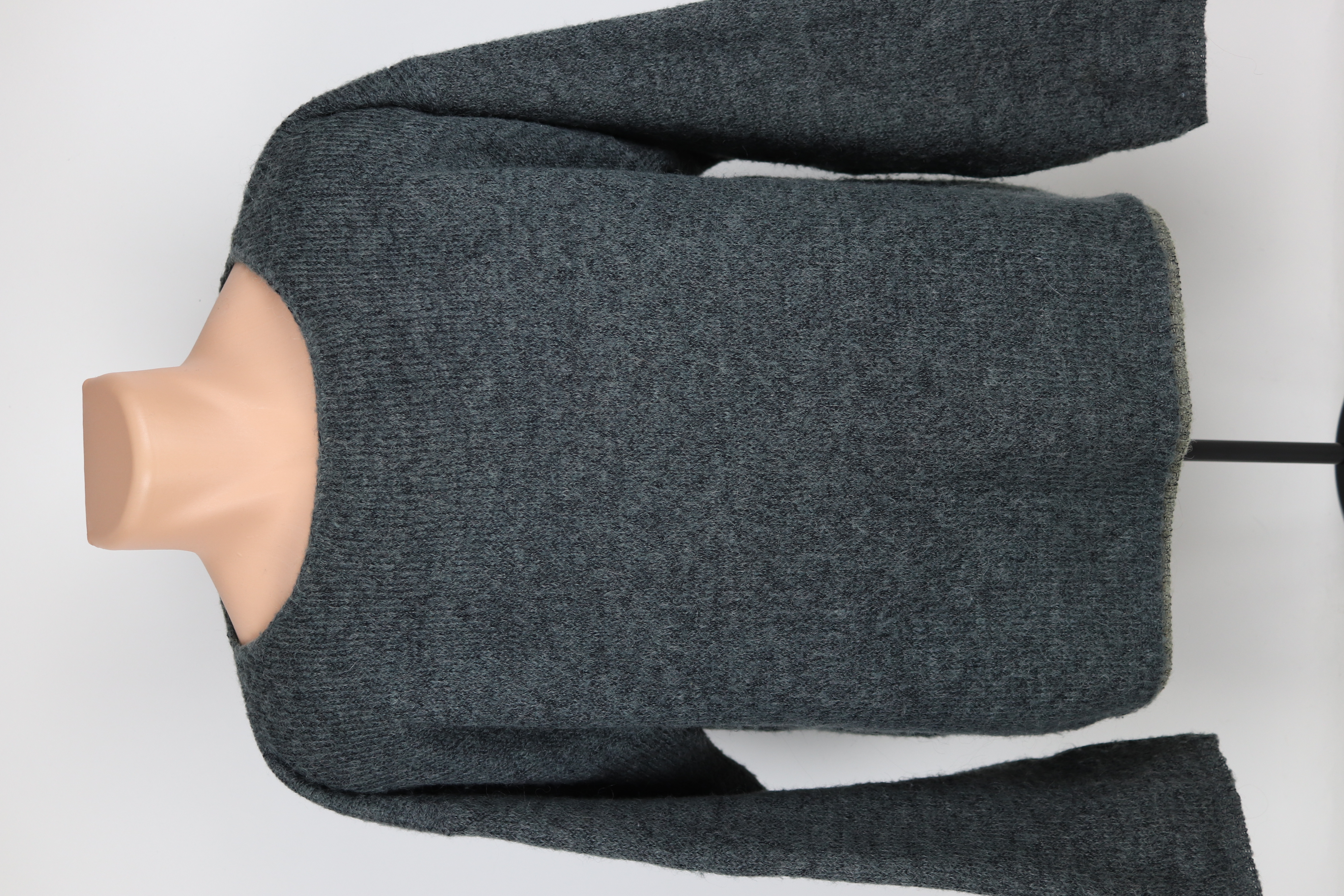 Vintage Oversized Boxy Fit Knitted Wool Jumper in Black