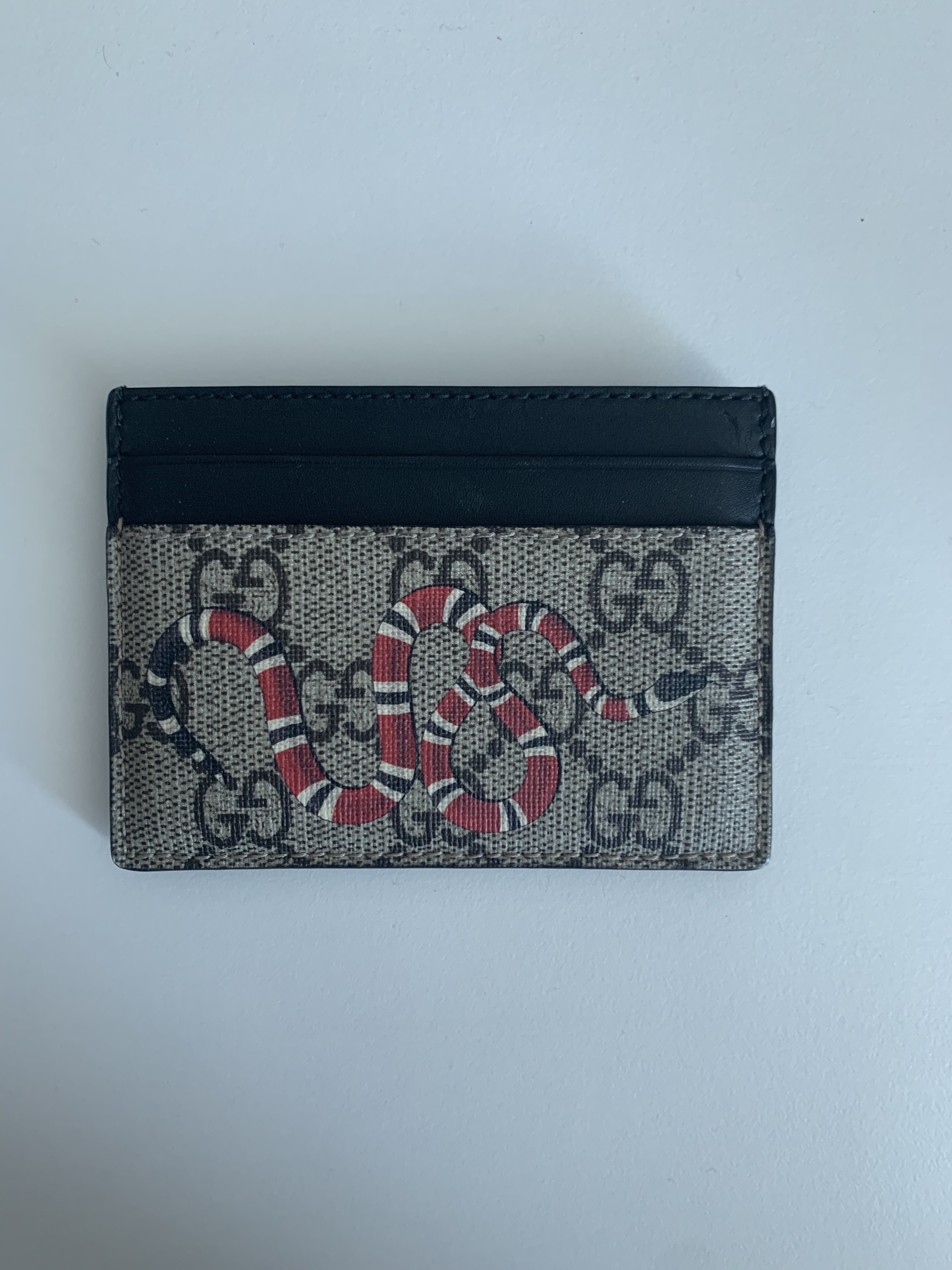 c38b6246c922 Gucci Snake Print Gucci Cardholder (case) | Grailed