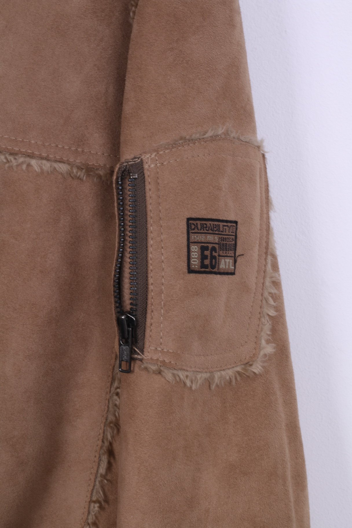 size 40 beauty utterly stylish River Island River Island Mens M Coat Brown Full Zipper Hooded ...