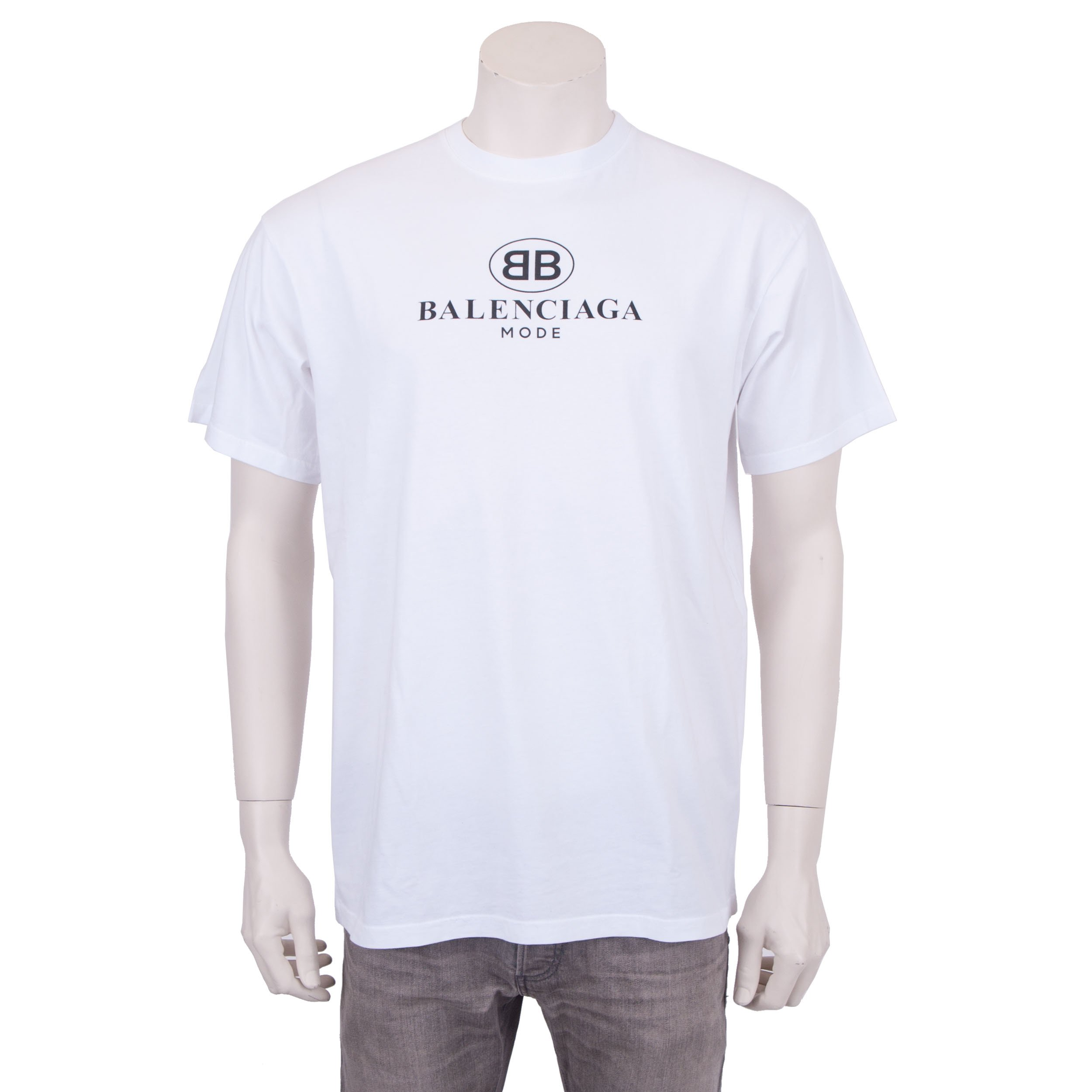 97a6fbf4 Balenciaga Balenciaga Mode Logo White Tee   Grailed