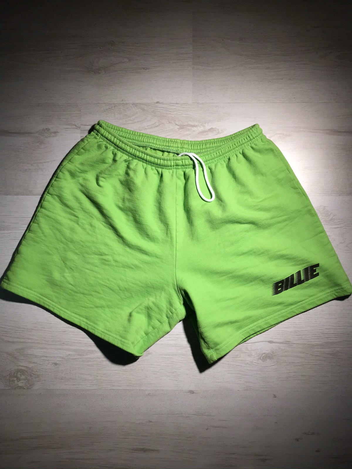 Streetwear Billie Eilish Billie Slime Green Tour Sweatshorts Grailed