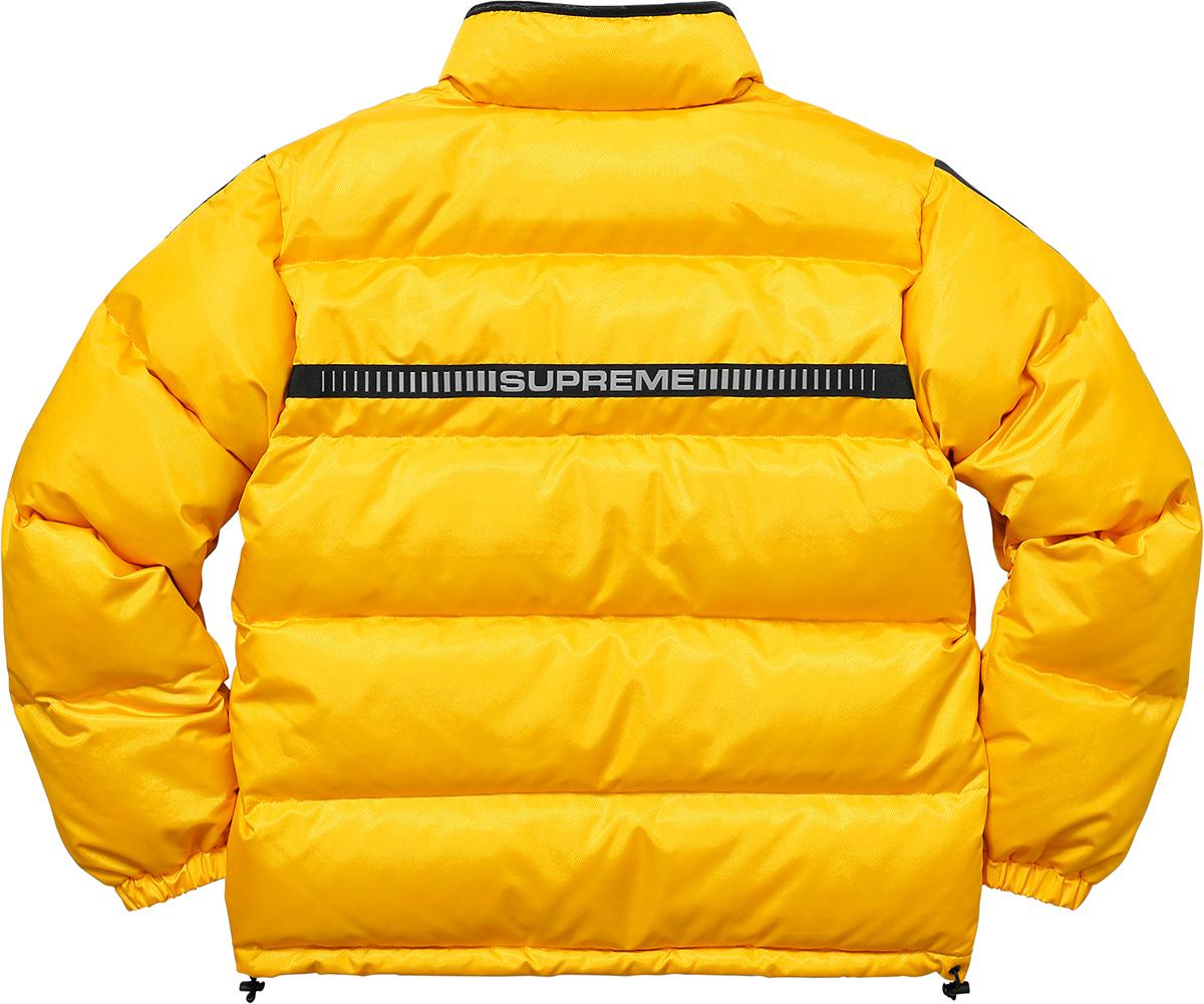 Supreme Supreme Reflective Sleeve Logo Puffy Jacket Yellow | Grailed