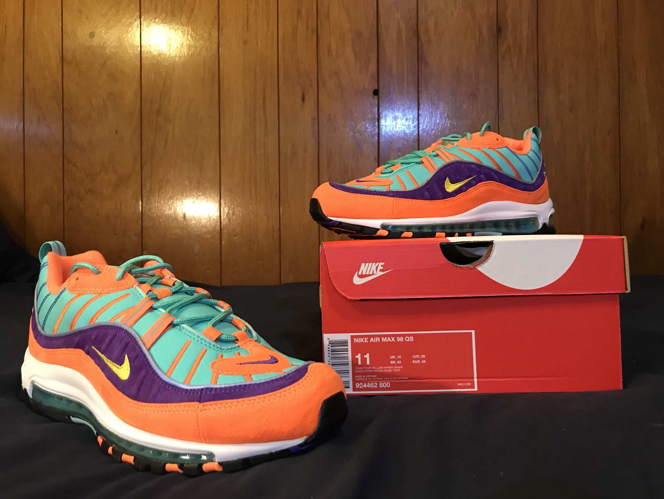 release date: db4ee 1fc6f Nike Air Max 98 - Cone (Vibrant Air) - Size 11