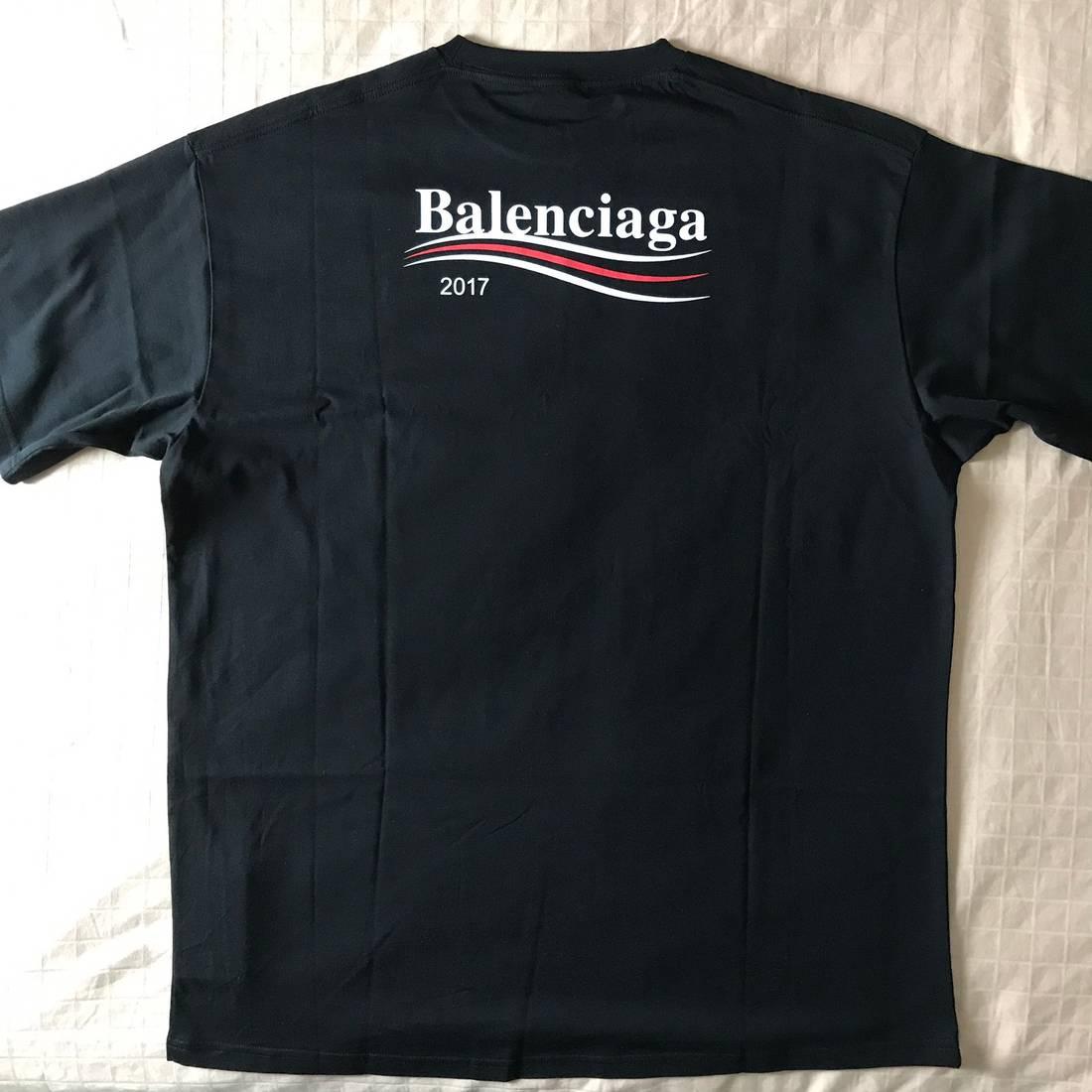 f3125604e Balenciaga Campaign Logo T-shirt Black 2017 | Grailed