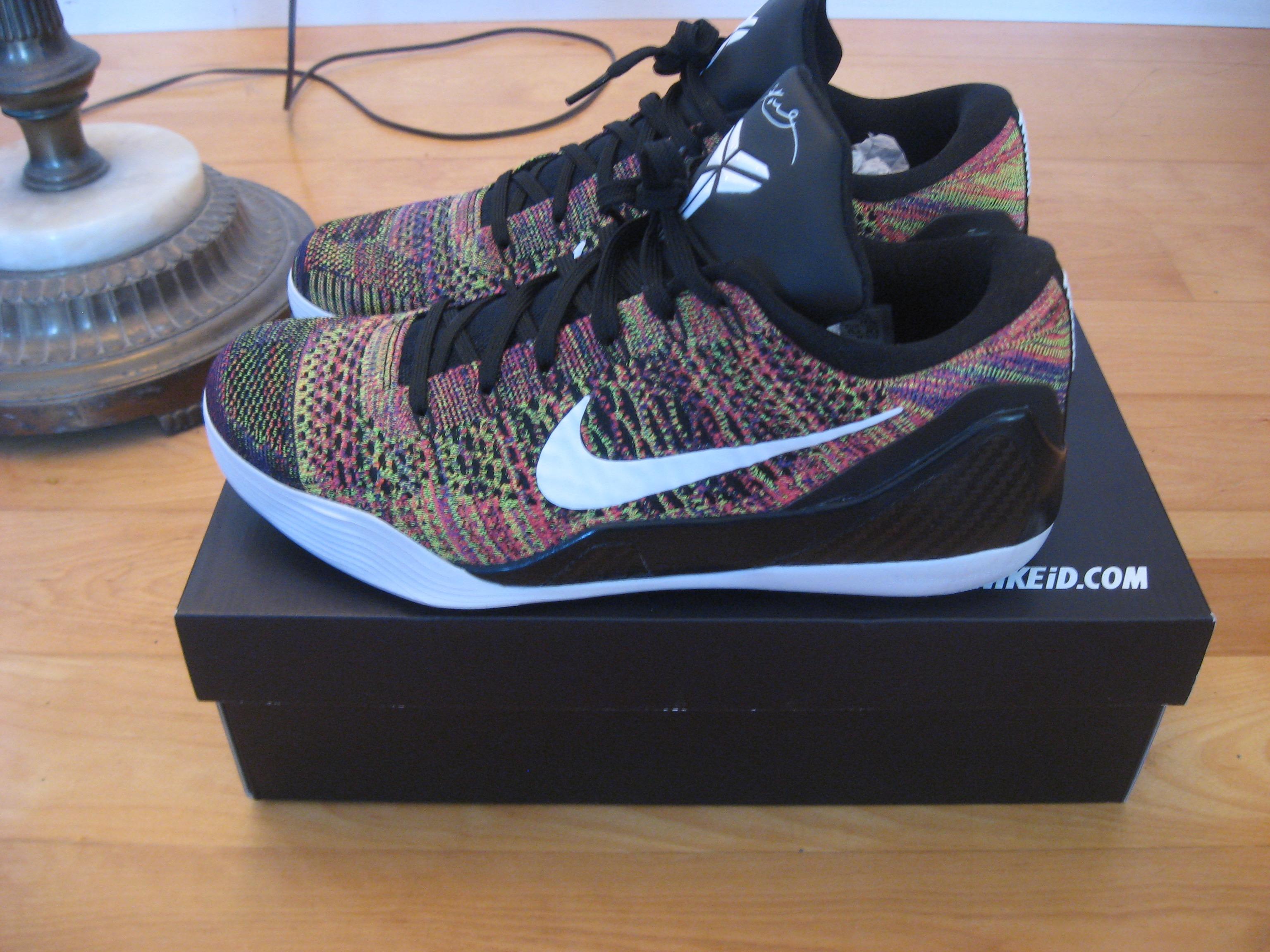 differently 784ed 8799c Nike. VNDS Sz.11.5 Nike Kobe IX 9 ID Flyknit Elite Low Multicolor Multi  Color