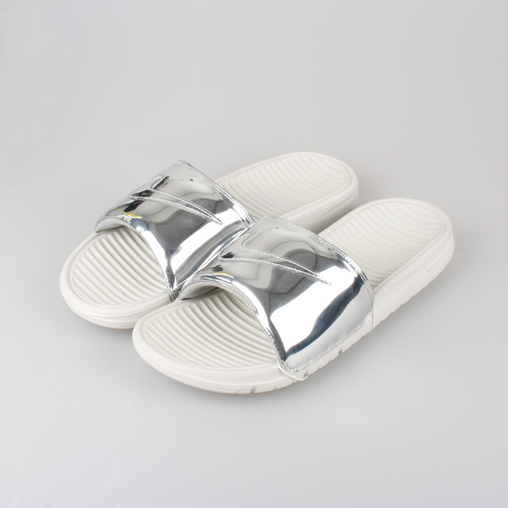 3ef037a9d3b7 Nike Benassi Solarsoft Slide Solid Liquid Metal Silver