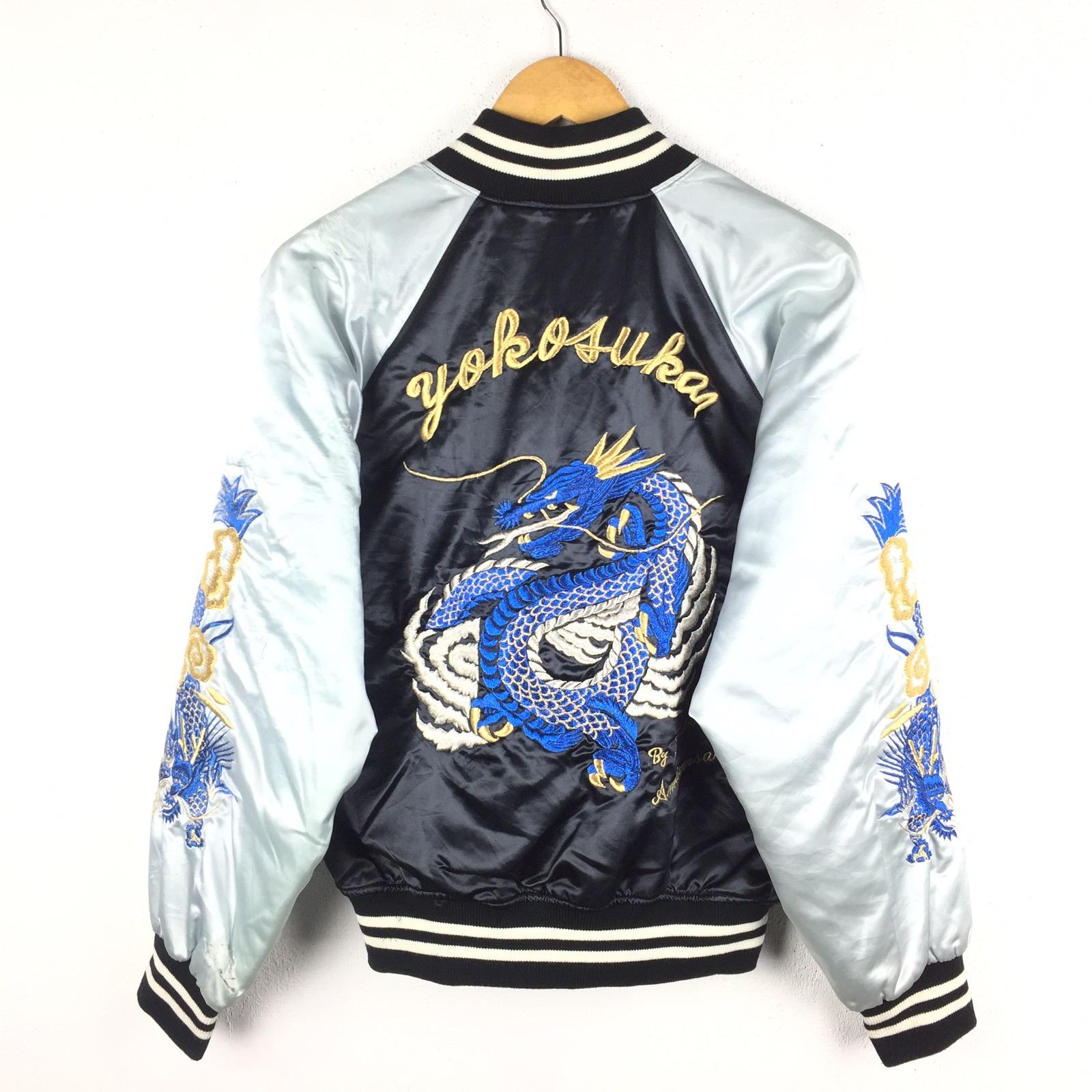 Vintage Sukajan Jacket JAPANESE TRADITIONAL Dragon Ryu Embroidery Japan Souvenir Tiger World War Yokosuka