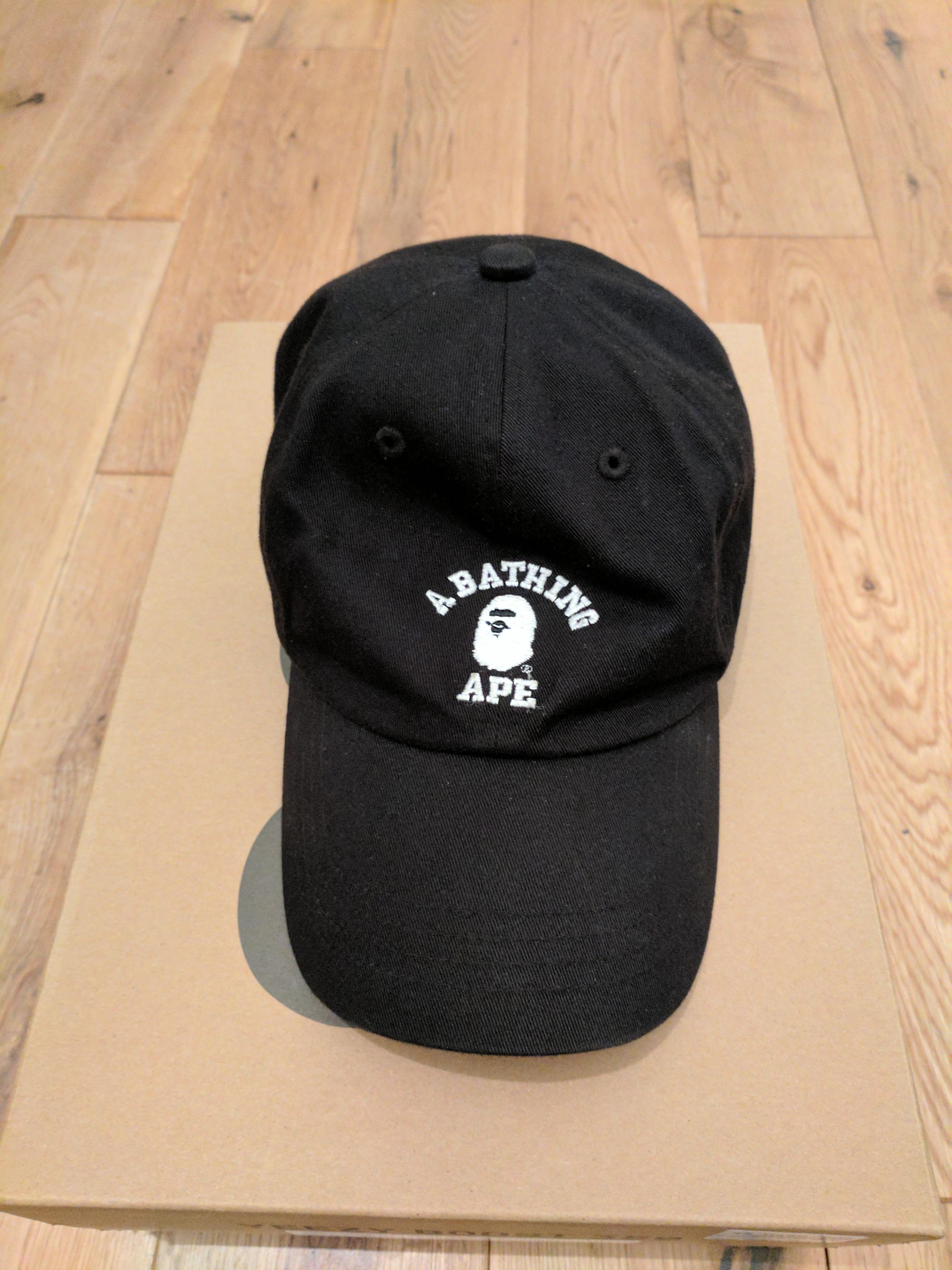 1a487775c12a0 Bape Bape College Cap Black OS Size one size - Hats for Sale - Grailed