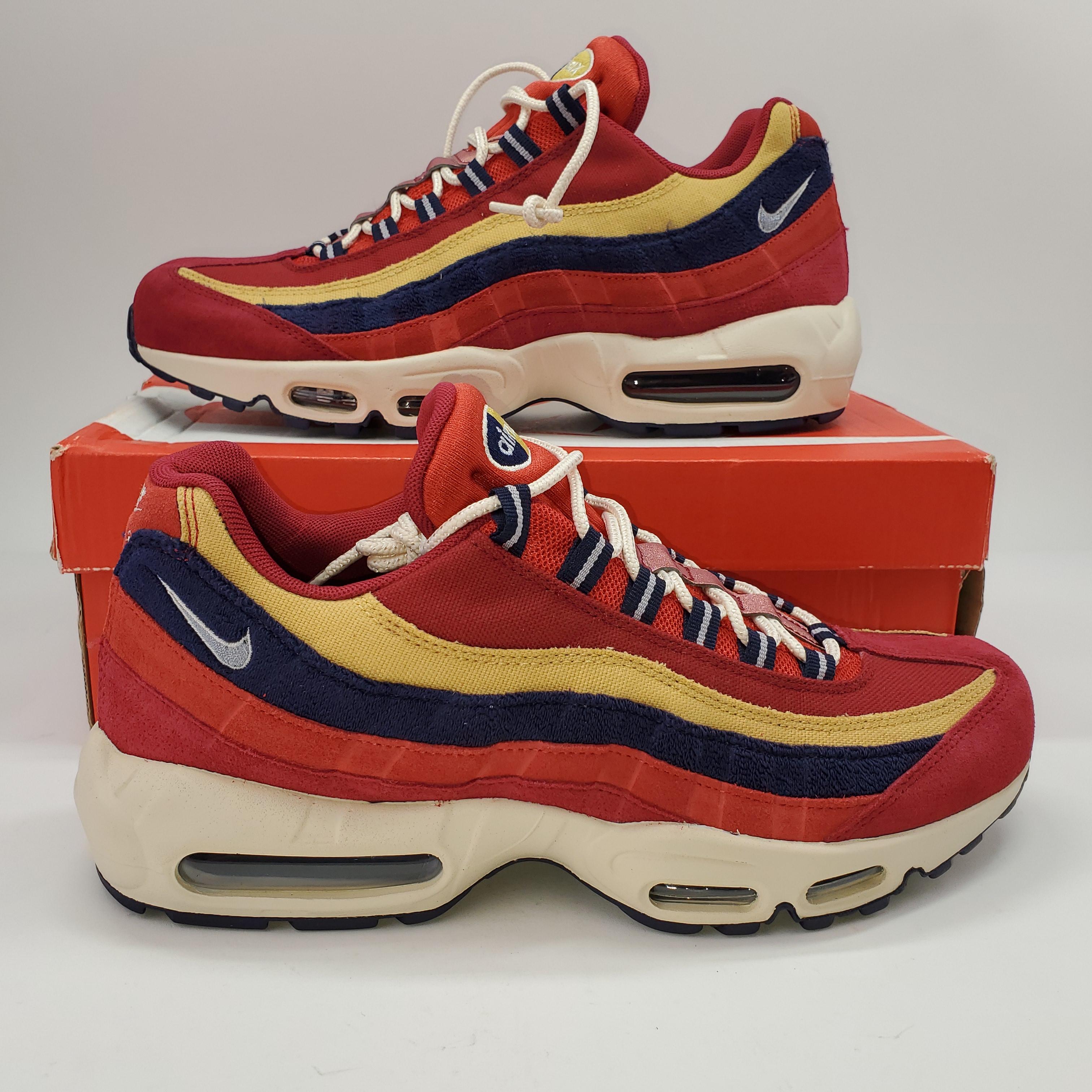 NEW Nike Air Max 95 Premium Red Crush Running Shoes