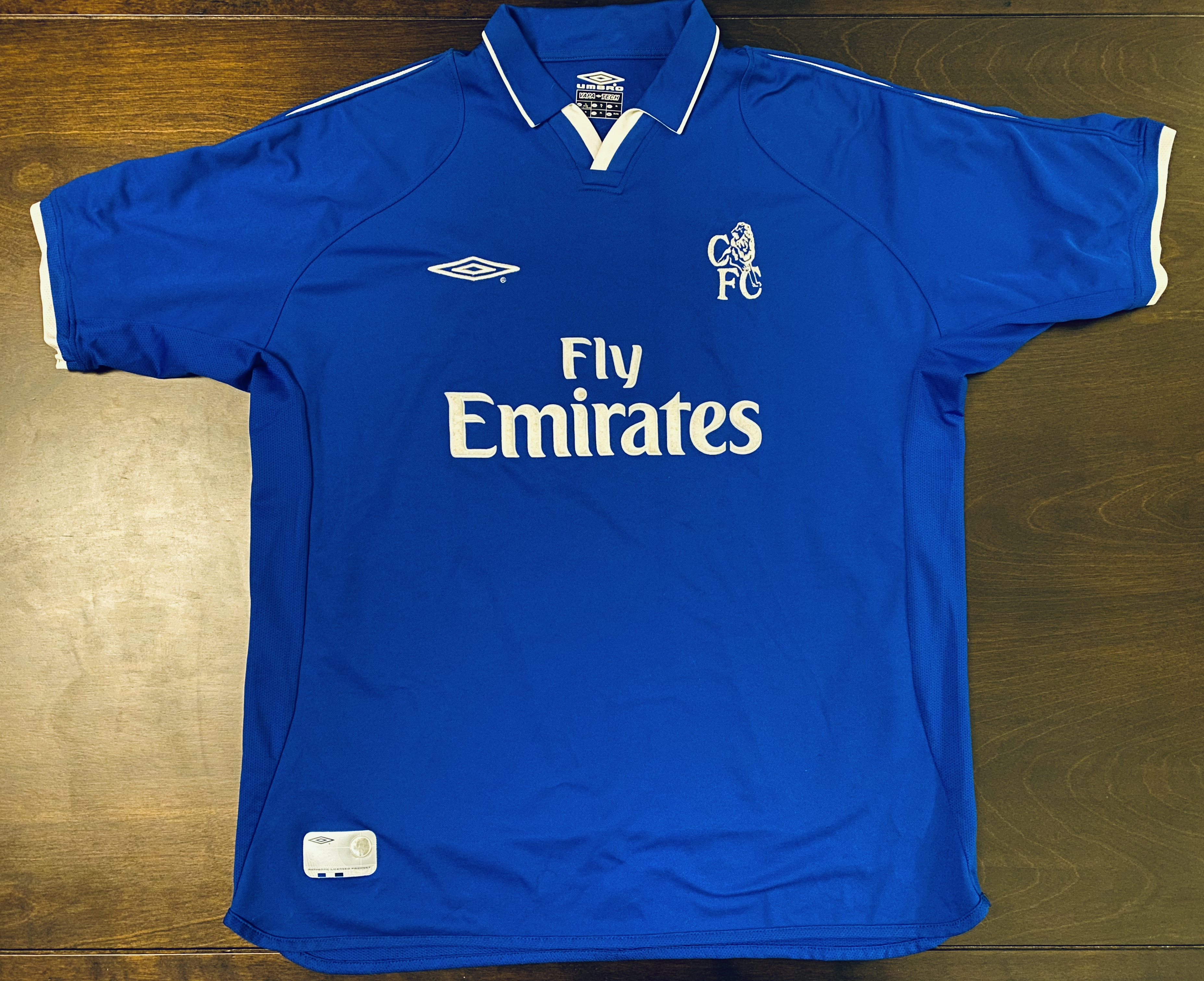 Umbro 2001 2003 Classic Chelsea Fc Home Soccer Jersey Size Xl Grailed