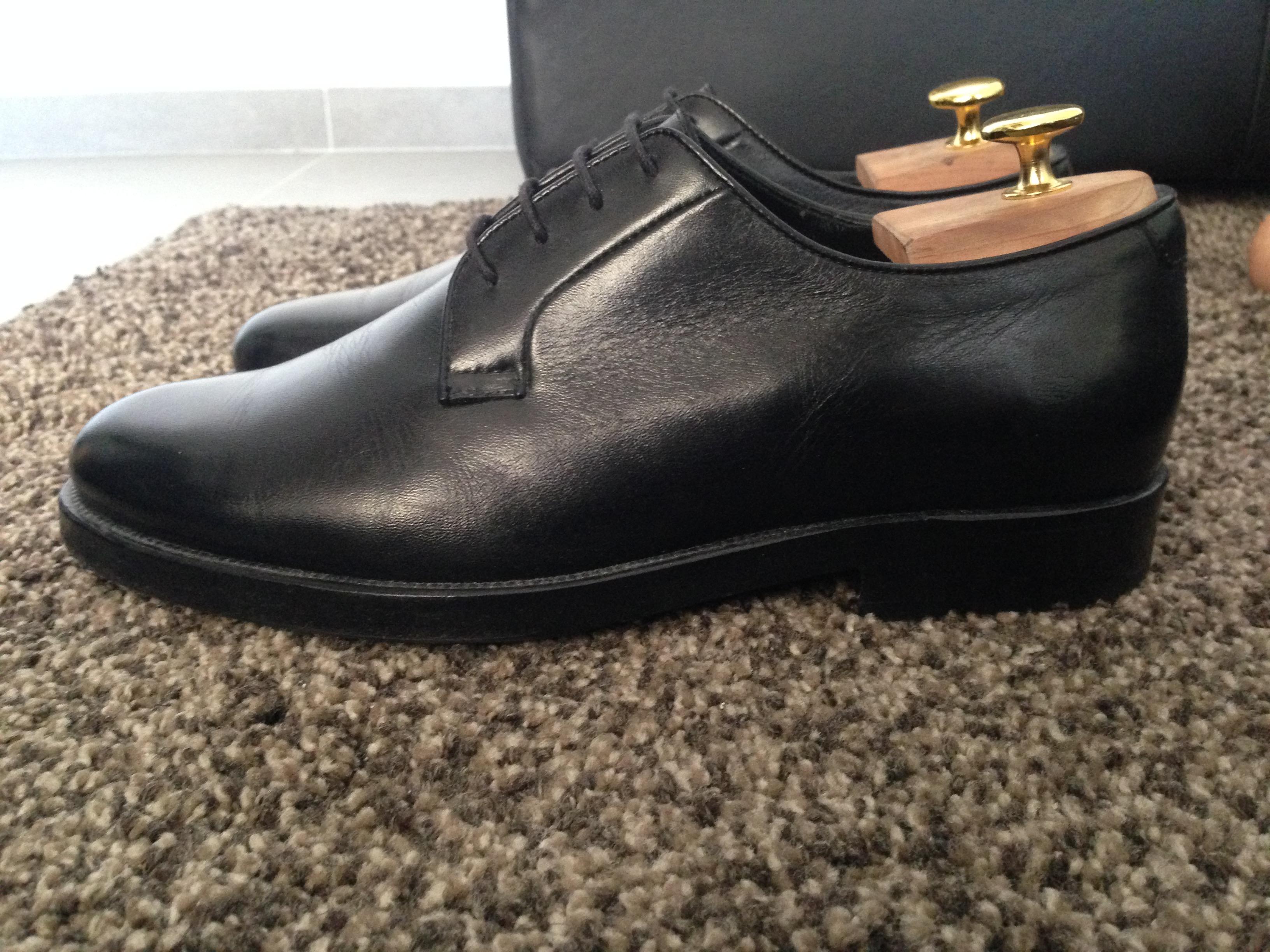 7f3b5dcd8113af Mr. Hare Bernard Calfskin Black Commando Sole Size 7 - Formal Shoes ...