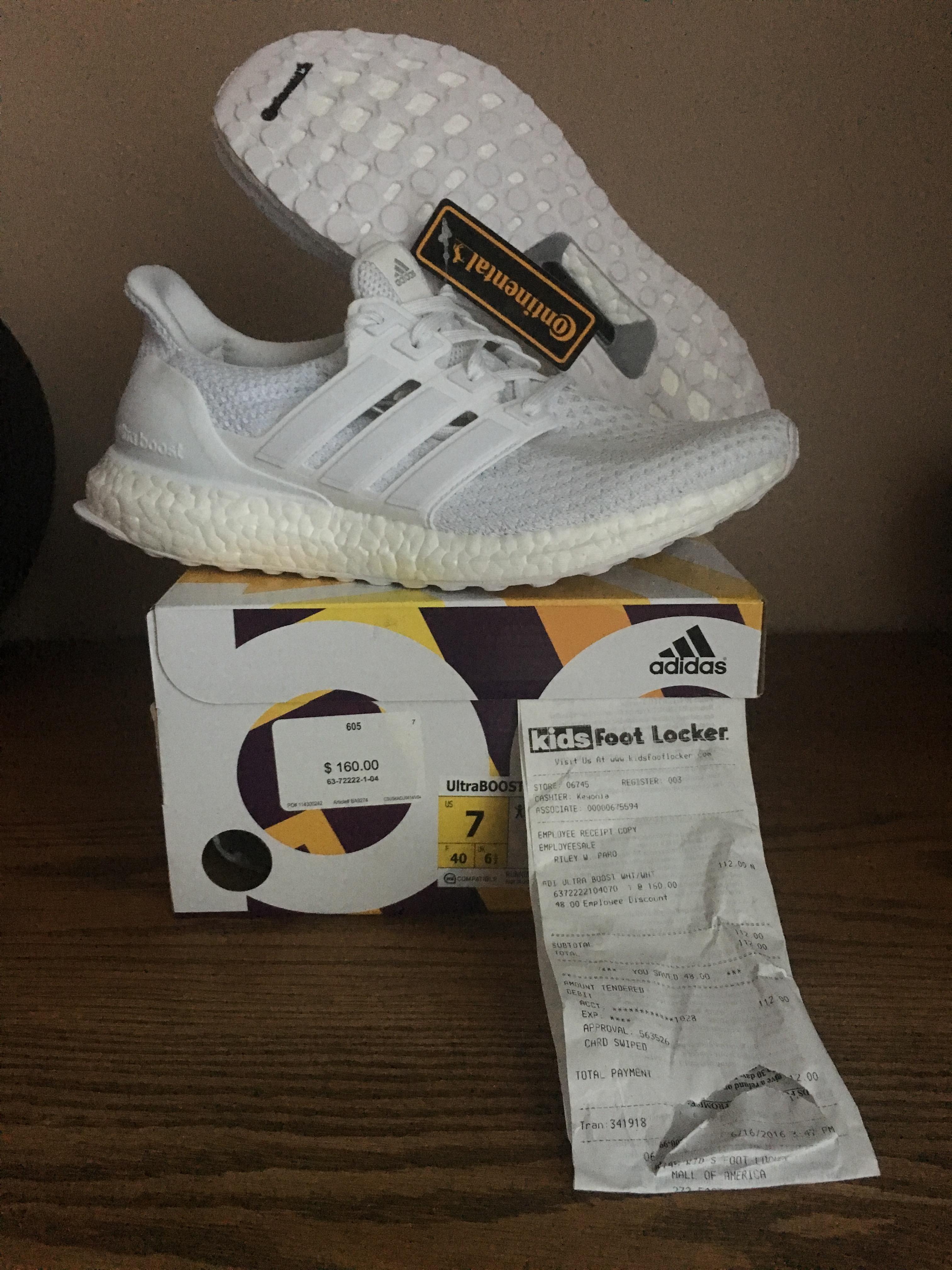 15a2966434554 Adidas Adidas Ultra Boost J S80588 All Triple White Junior GS Kids Women