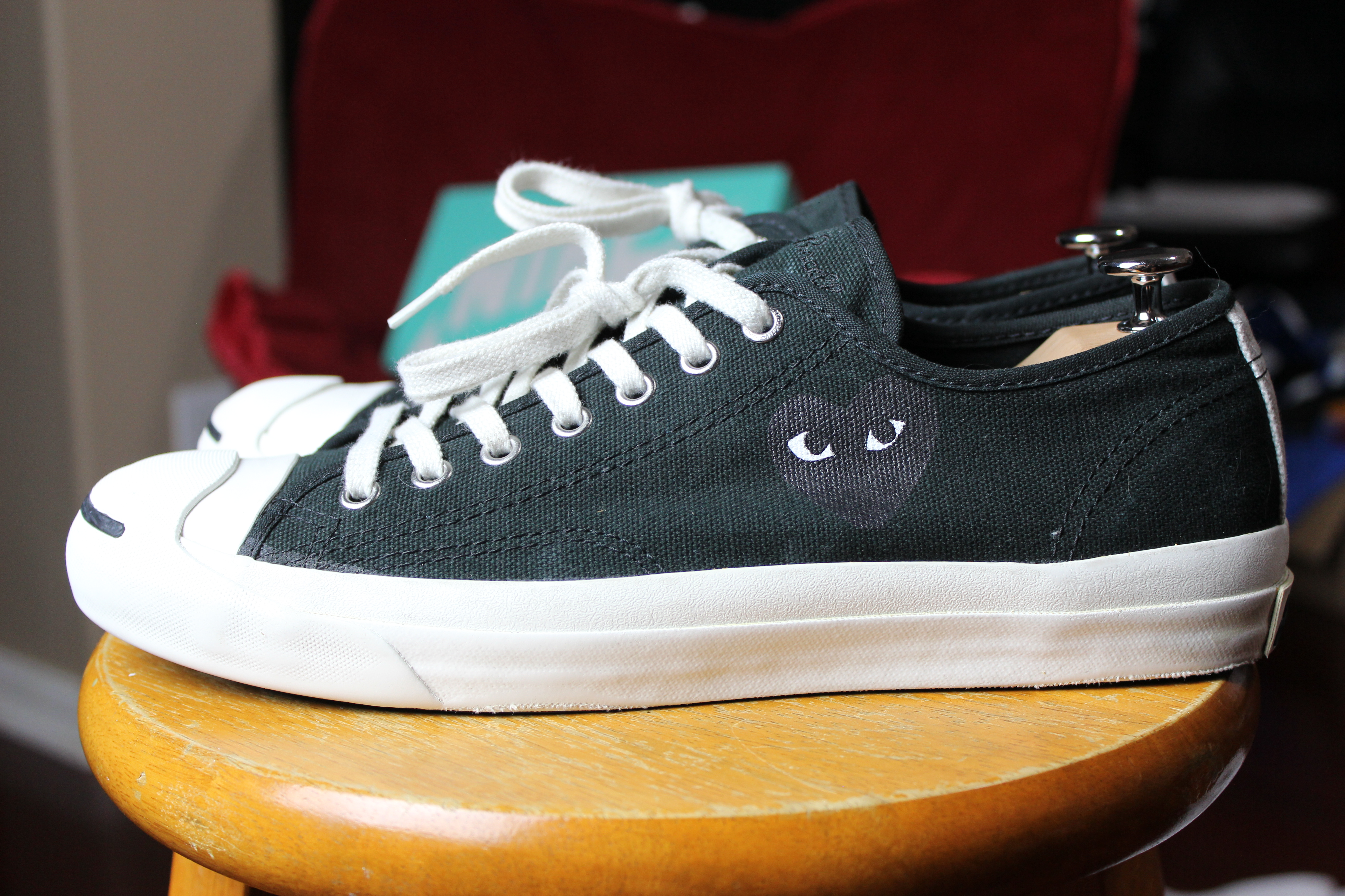 484daaa5c6a Jack Purcell Black Low Top Little Heart OG 1.0 Rare CDG
