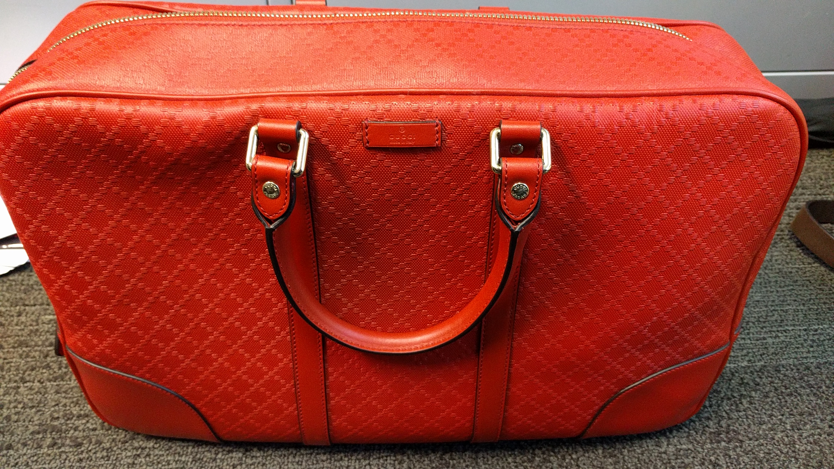87ac781e53fe67 Gucci Diamante Leather Holdall / Duffle Bag - Almost New | Grailed