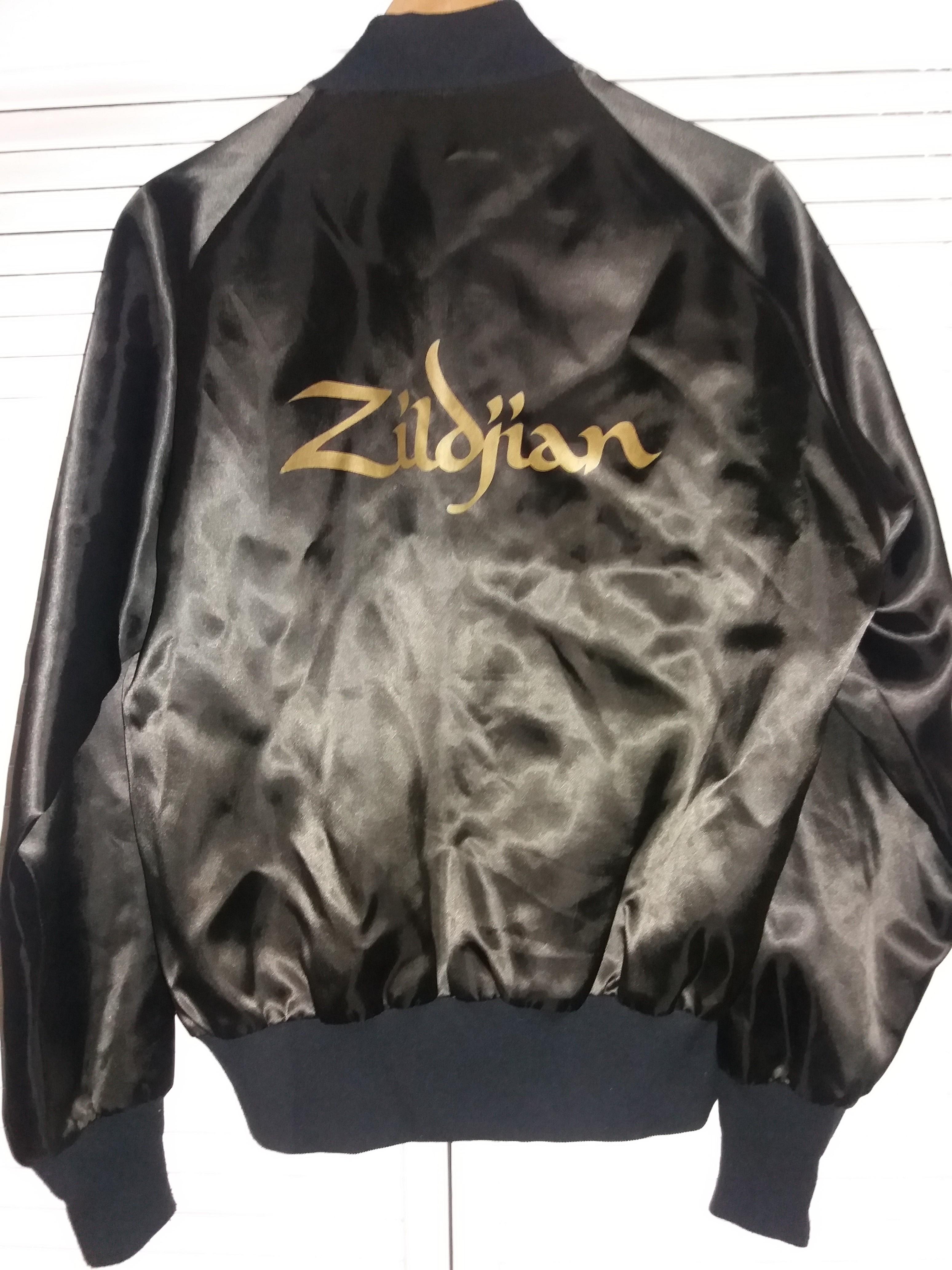 2f5677242 Vintage × Unknown ×. RARE 80s Vintage Avedis Zildjian Co. Genuine Turkish  Cymbals BLACK SATIN Bomber Jacket ...