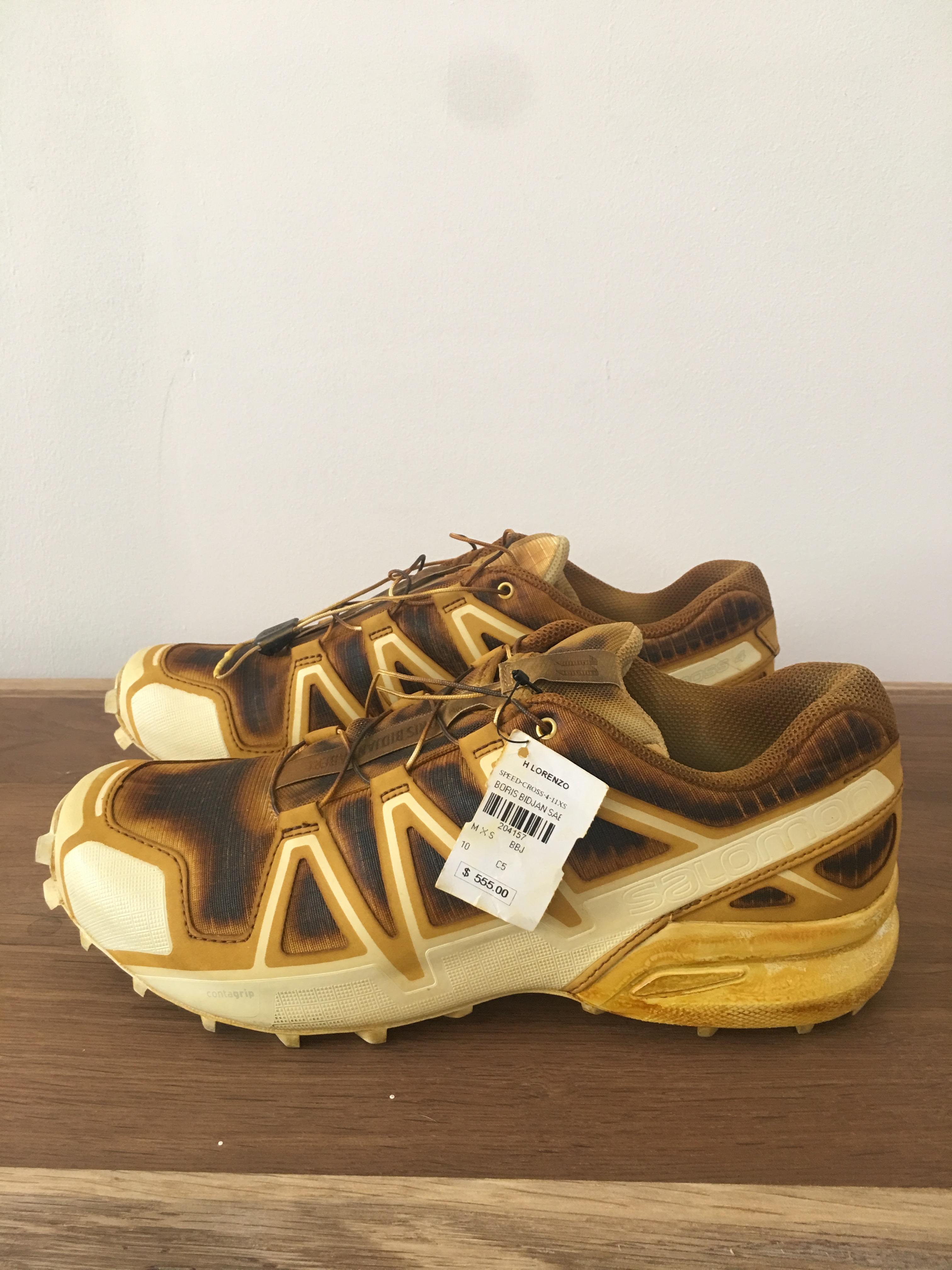 $600 BORIS BIDJAN SABERI x SALOMON Speedcross 4 Sneaker BBS 10
