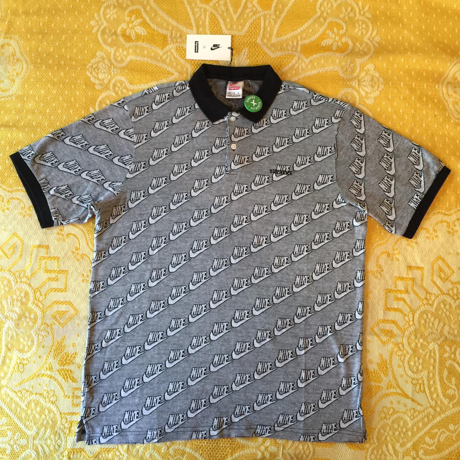 78002112313c Supreme Jacquard Knit Polo Black   Grailed