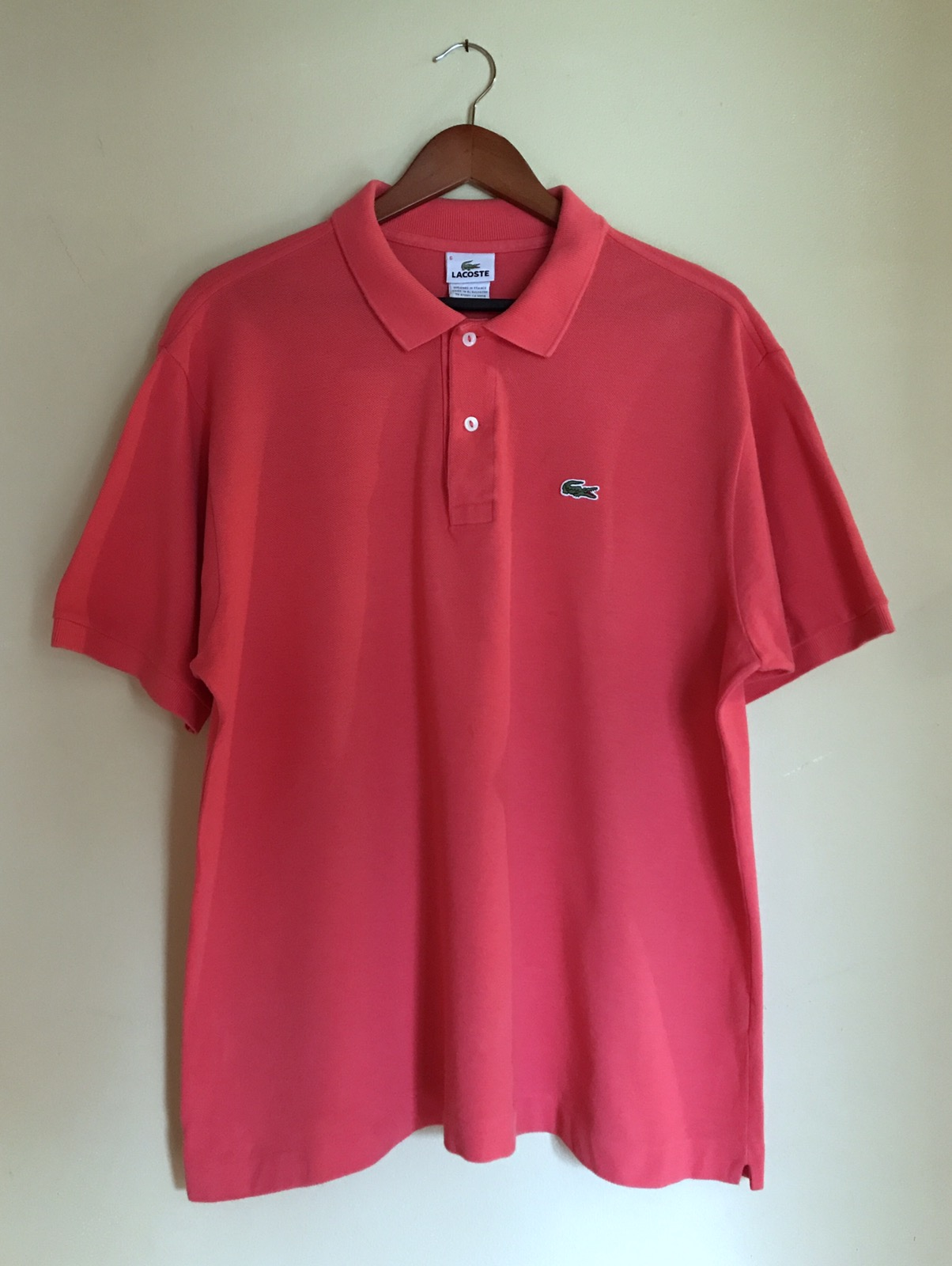 Lacoste Lacoste Rose Red Pink Polo Collar Short Sleeved Shirt Size 6