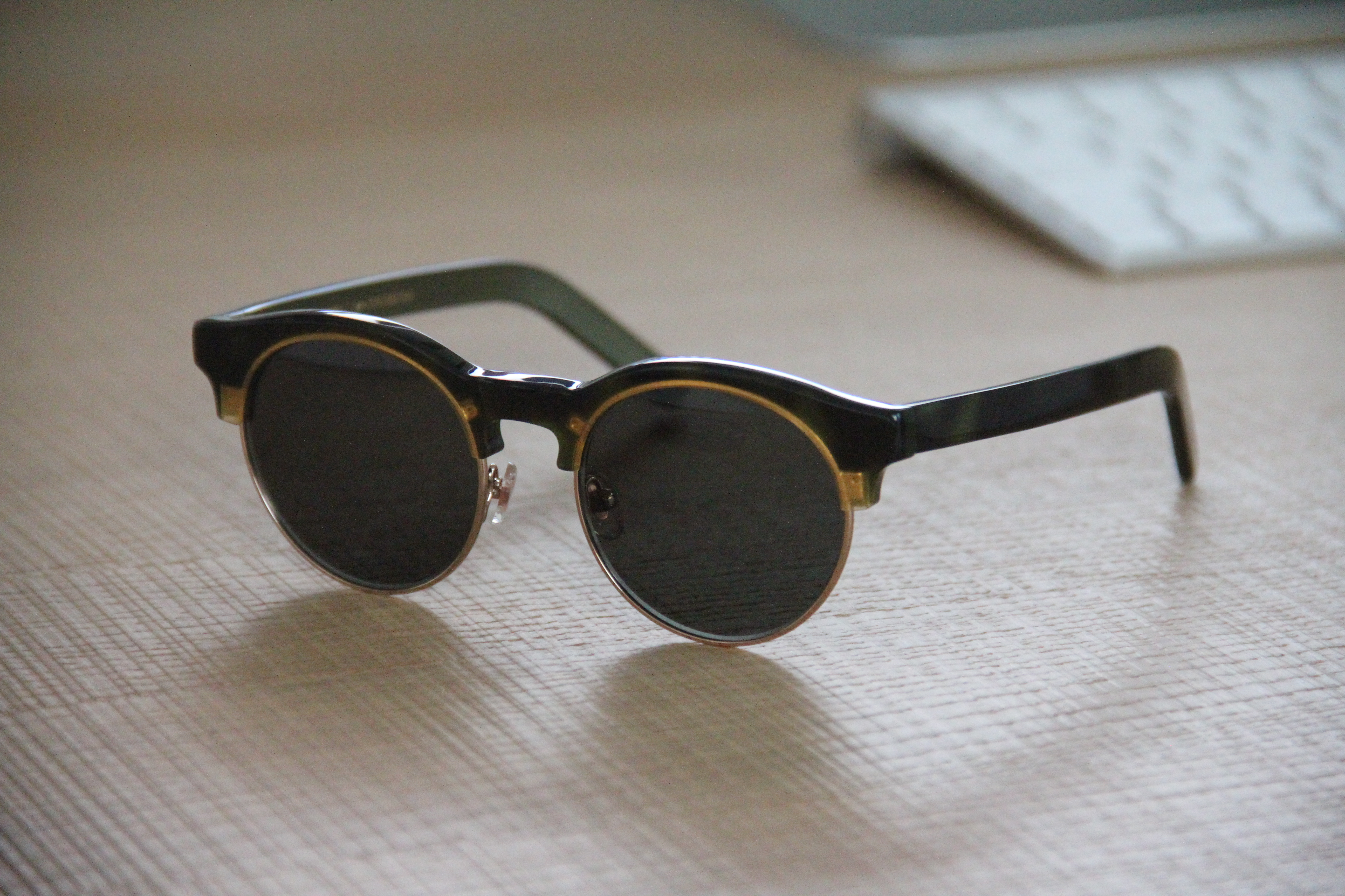 cd70594c525b Han Kjobenhavn Handmade Smith Mash (Sun Green) Sunglasses Size one ...