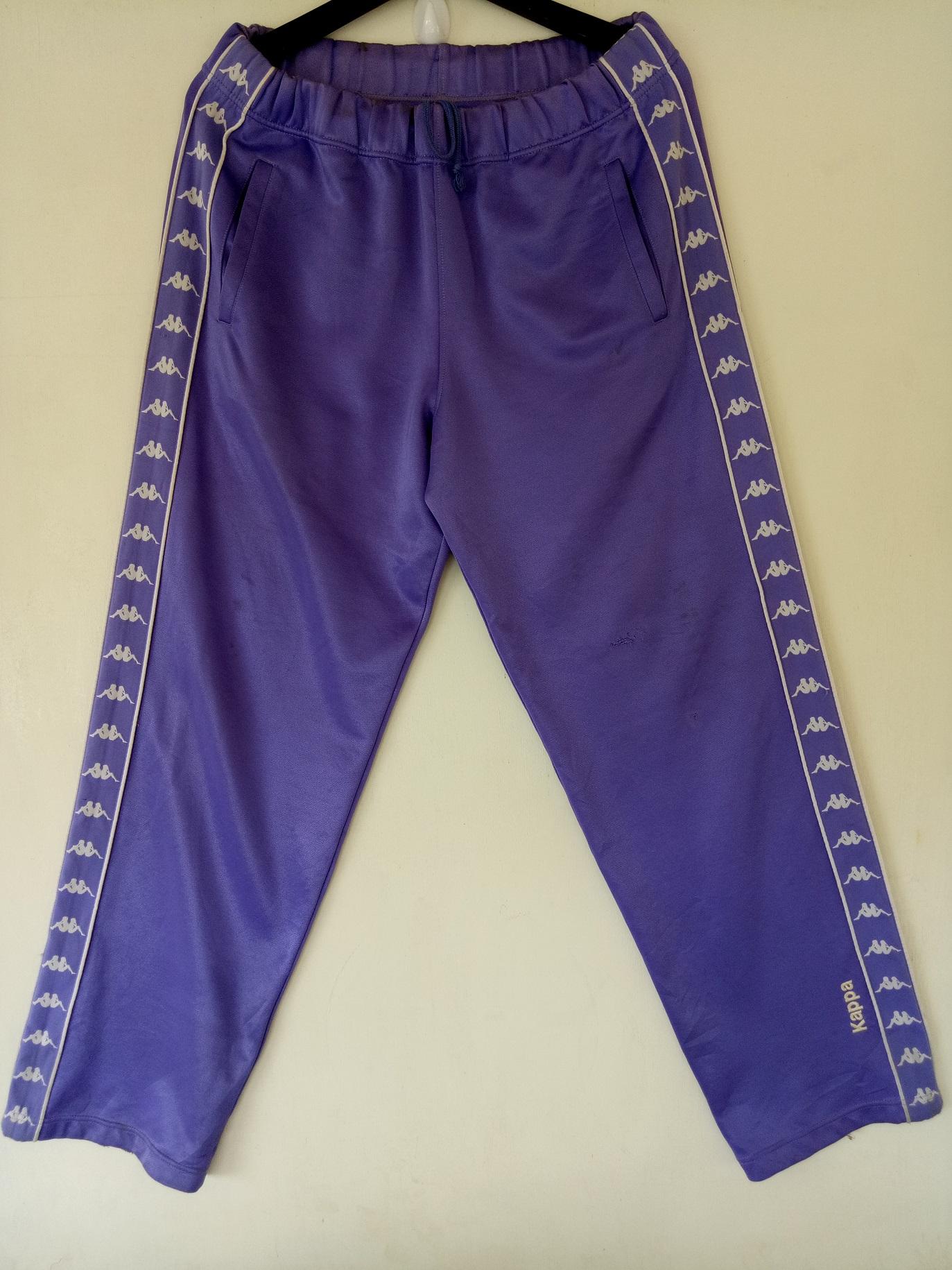 e3291f95 VINTAGE KAPPA sweatpants sports track rare design spell out original  streetwear jogging athletic tracksuit purple pants