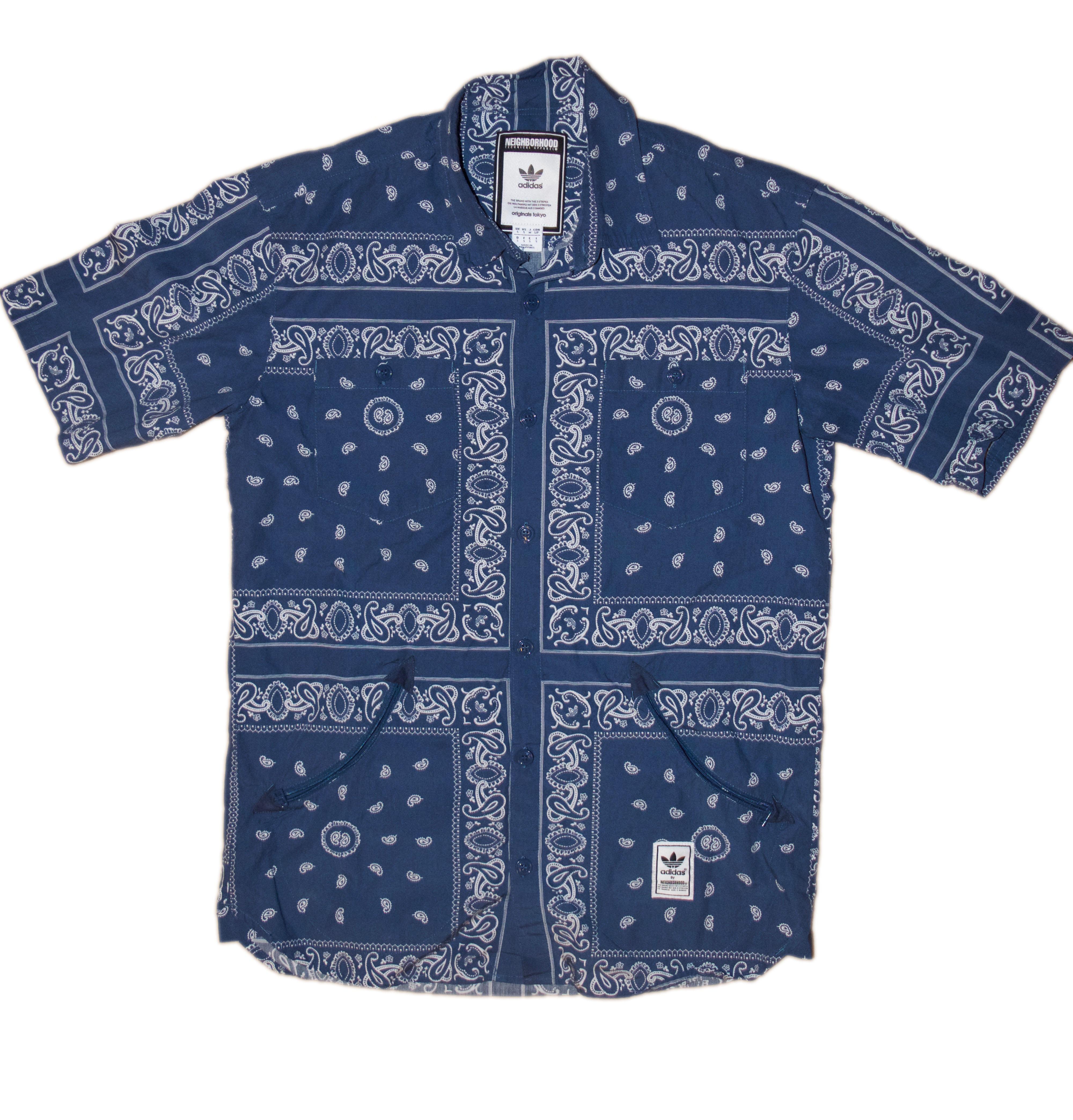 adidas button up shirt