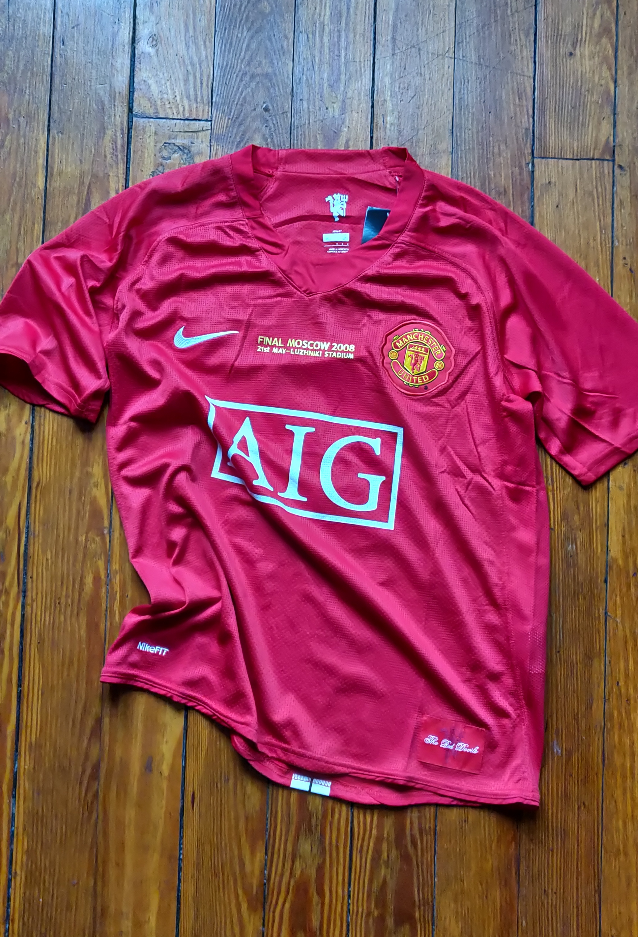 brand new fe240 8bb31 Manchester United 2008 Champions League Final Ronaldo Jersey