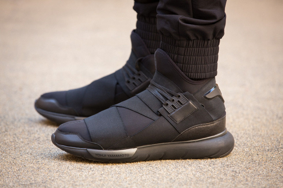 a7b41c0ed Adidas Y-3 Qasa High (All Black) Size 9 - Hi-Top Sneakers for Sale - Grailed