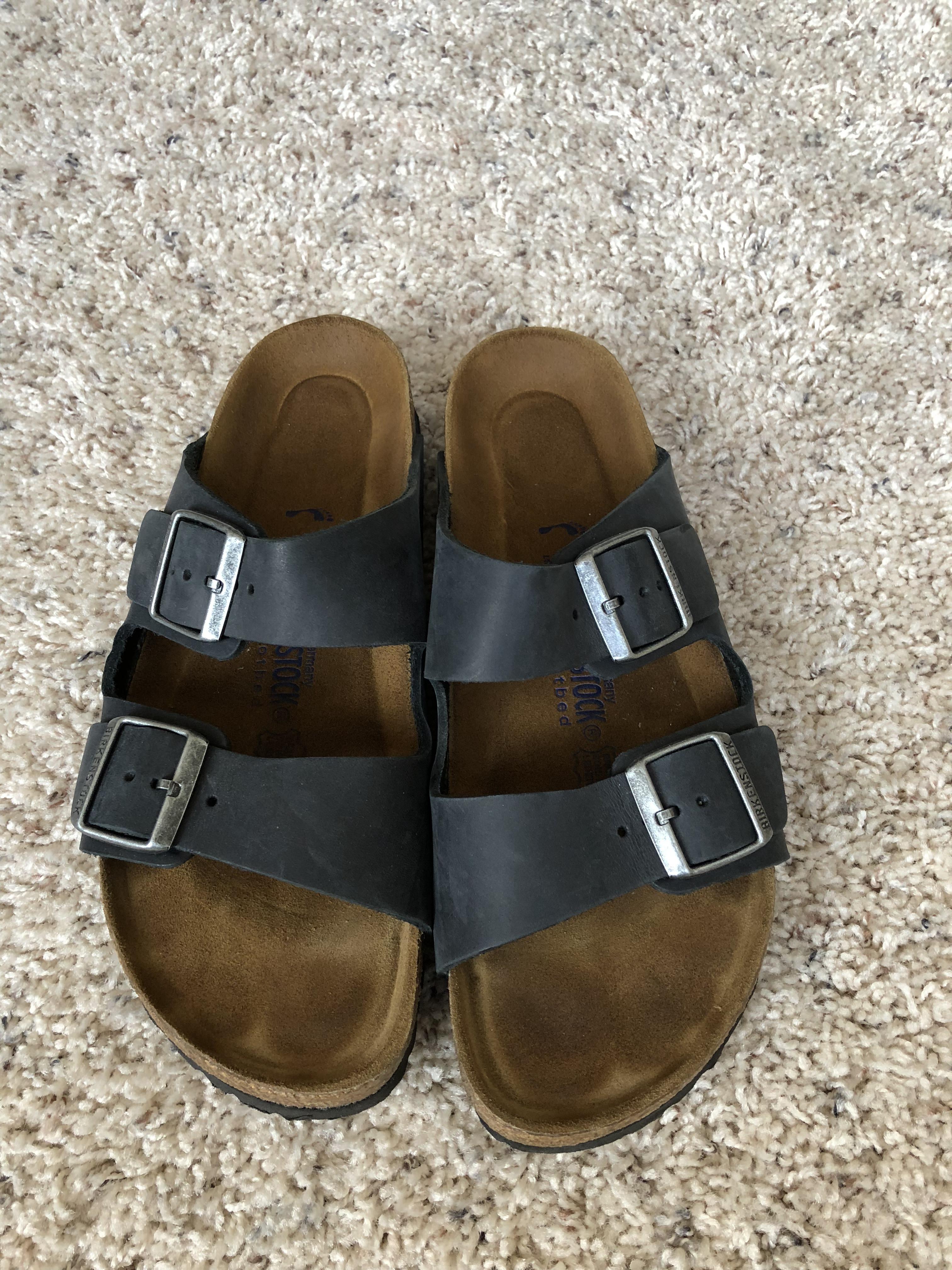 978c4530b7f9 Birkenstock Arizona Soft Footbed - Leather (unisex) Black Oiled ...