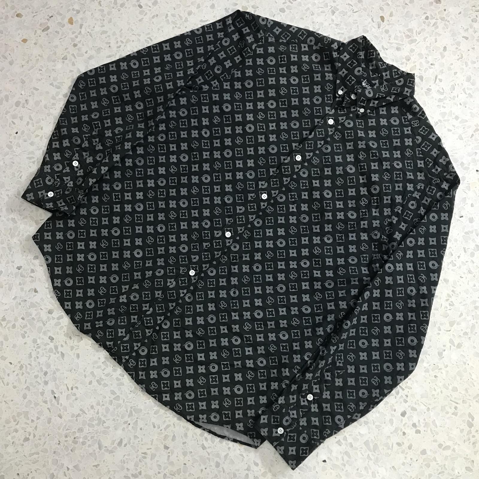 608d63a6524c Stussy Rare Vintage Stussy Monogram Louis Vuitton Button Shirts Size ...