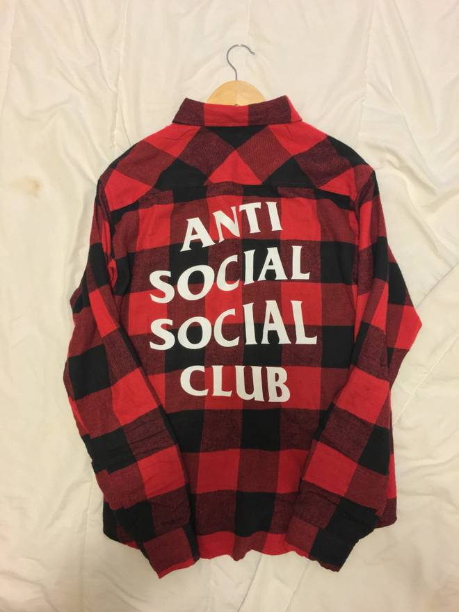 9578d762fdd5 Antisocial Social Club Red ASSC Flannel Size m - Shirts (Button Ups) for  Sale - Grailed