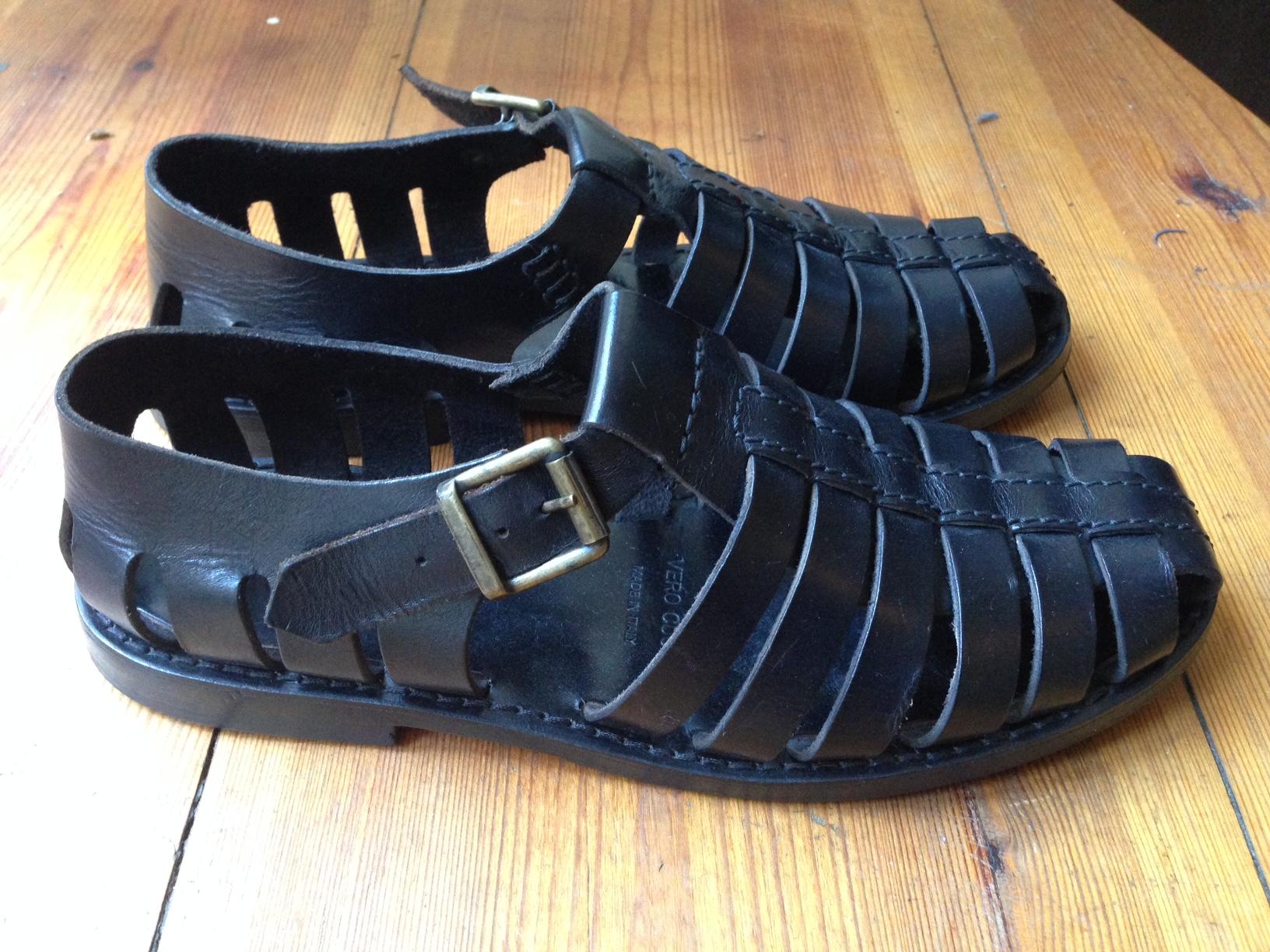 d24a232ce4e Fratelli Italia Di Delfino Fratelli Vanni Italian Leather Sandals Size 9 -  Sandals for Sale - Grailed