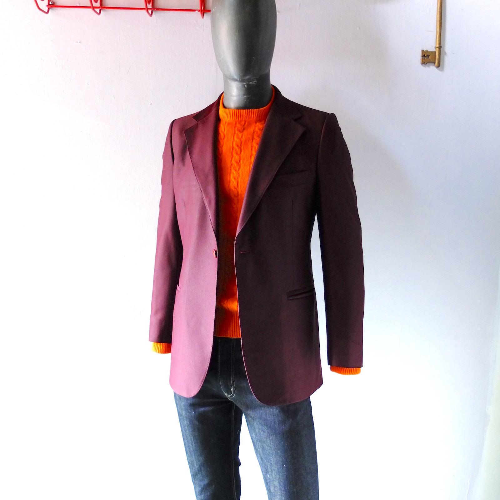 e80dd6b2db Vintage Tailored Ole Hansen Copenhagen Plum Sport Coat 38 / 40 R ...