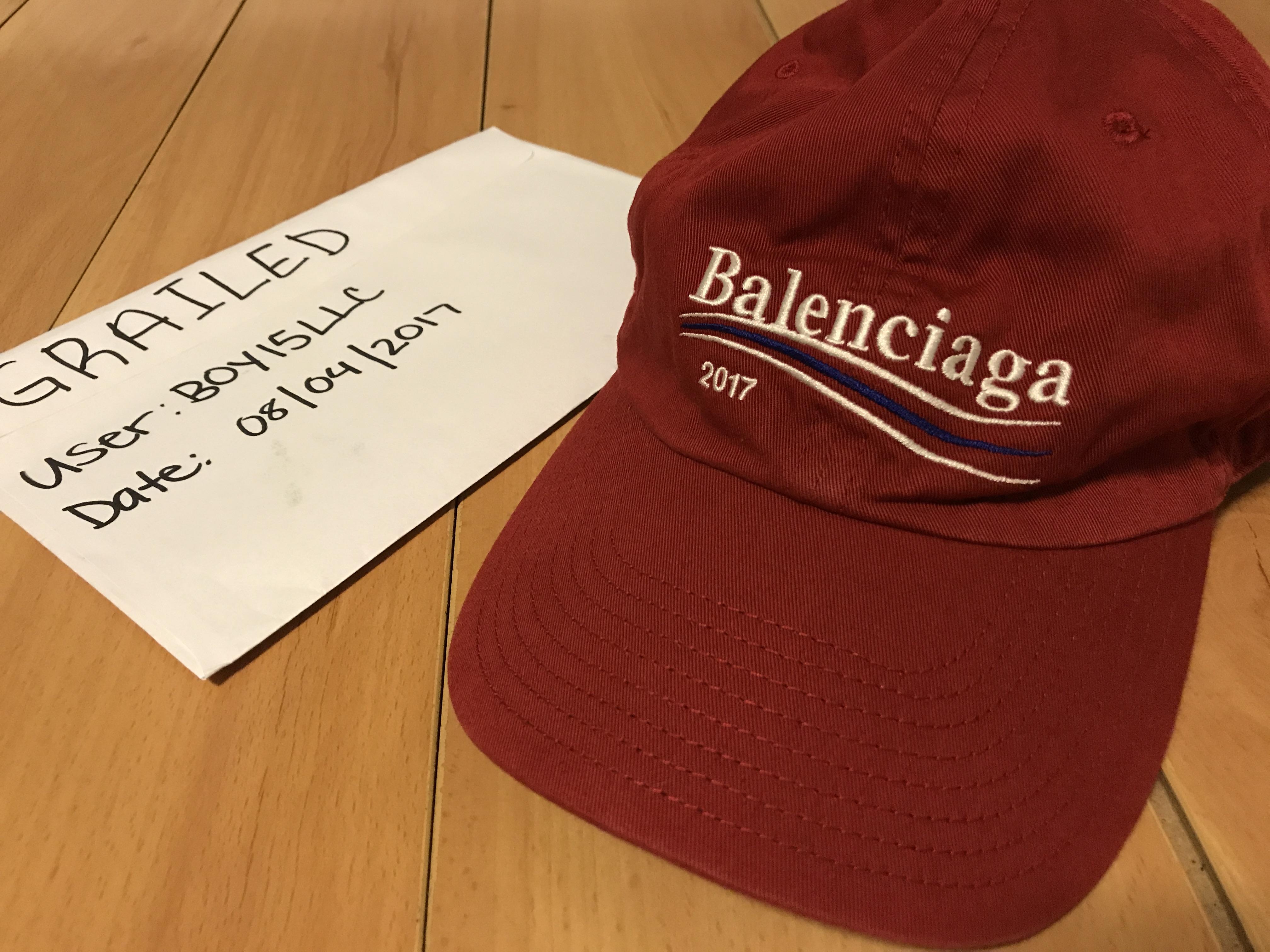 0b0b2c5fc Balenciaga 2017 Logo baseball cap