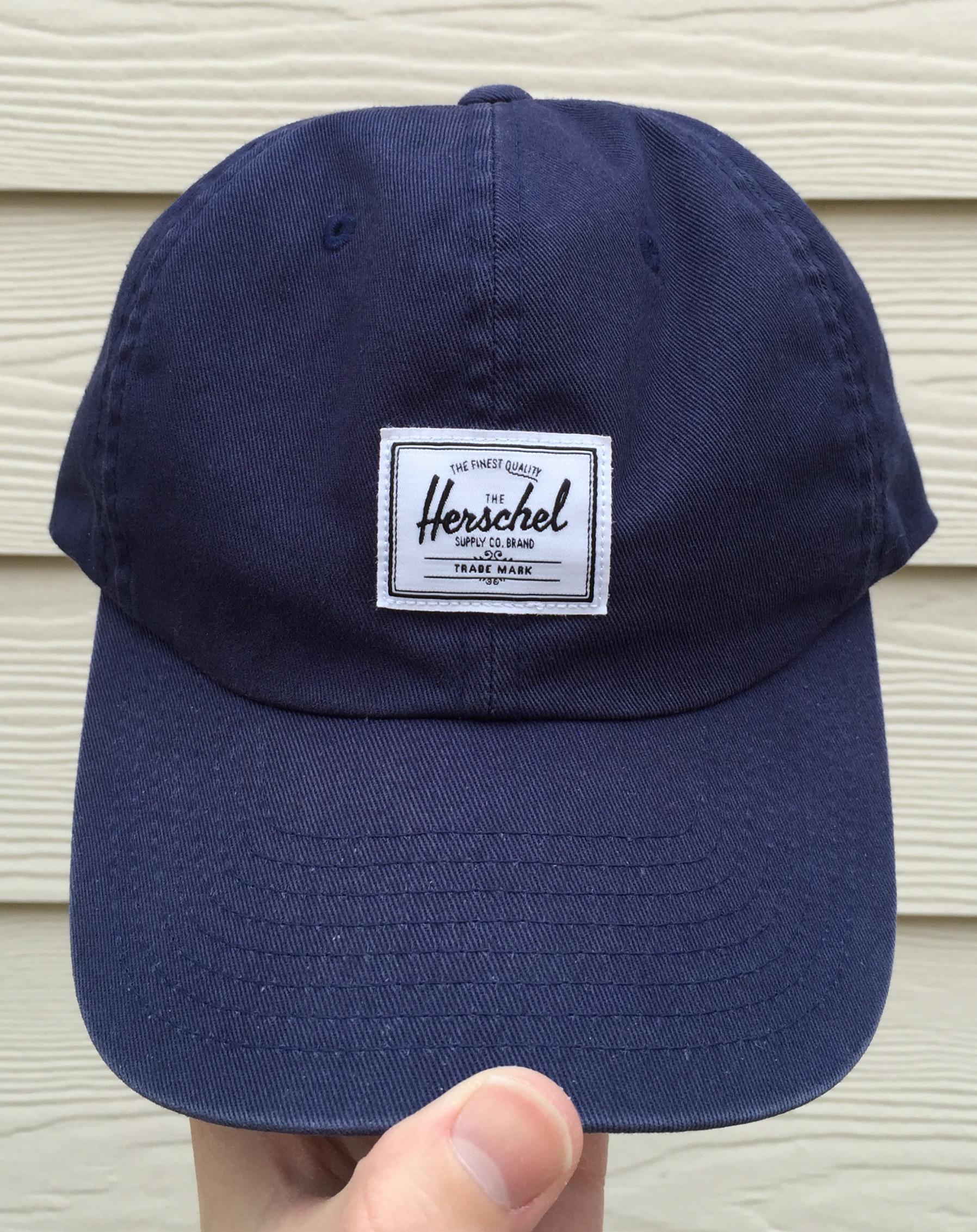 82b4f57c9cb Herschel Supply Co. Logo Navy Blue 6-Panel Dad Hat Size one size ...