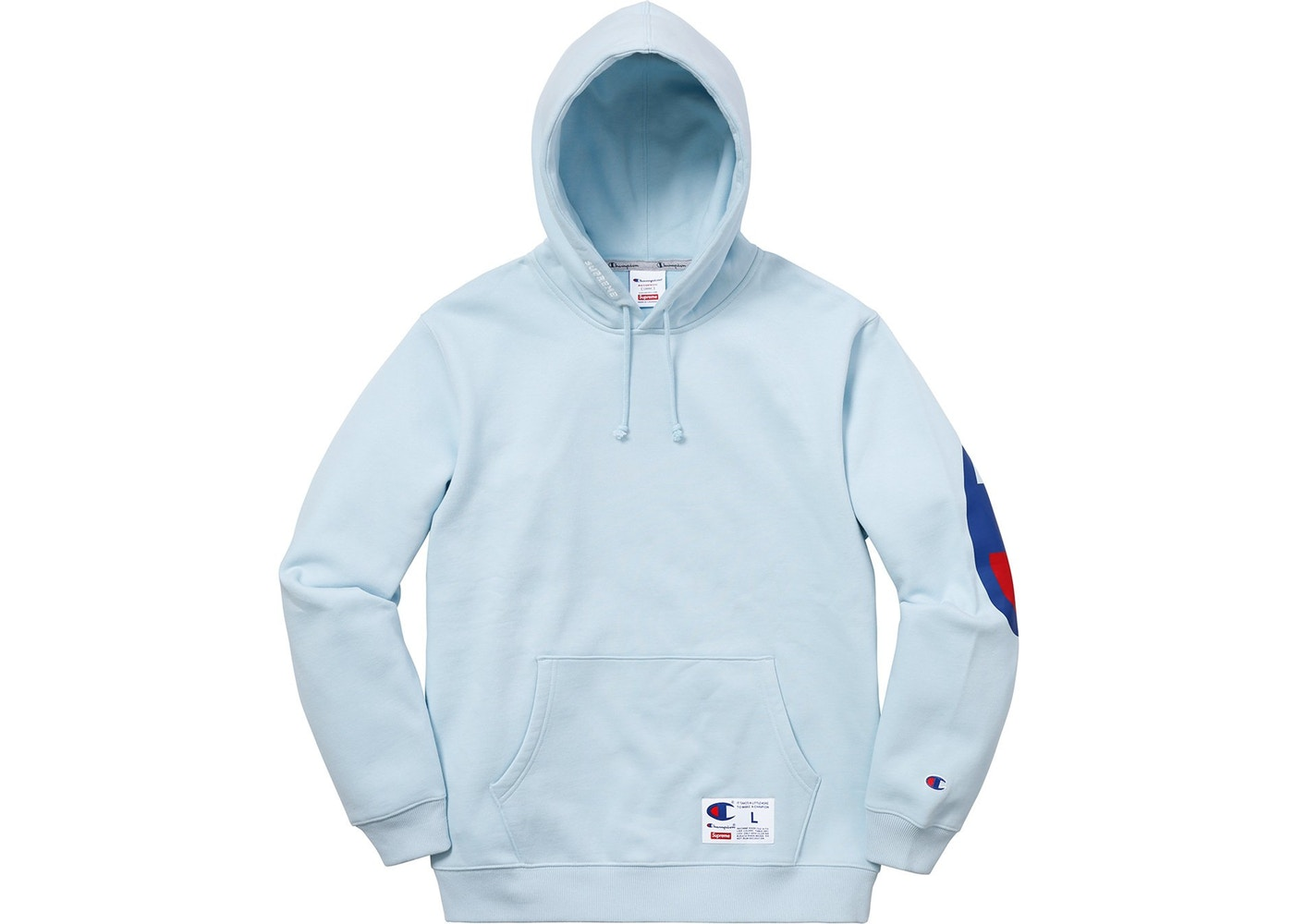58174897c1b Supreme Supreme Champion Hooded Sweatshirt (SS18) Light Blue Size l ...