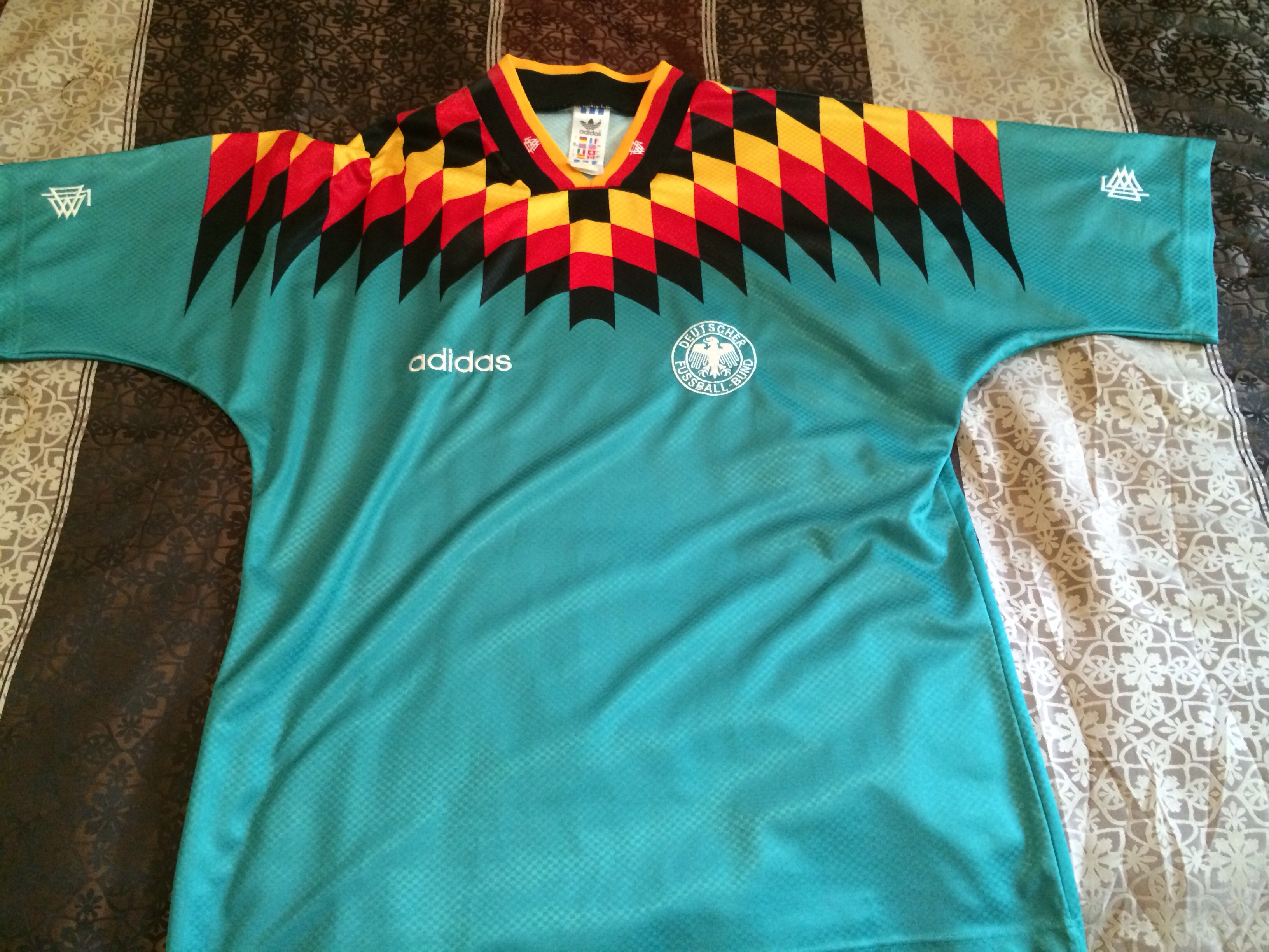 73afd0ab4b4 Adidas Original Vintage 1994 World Cup West Germany Soccer Jersey ...